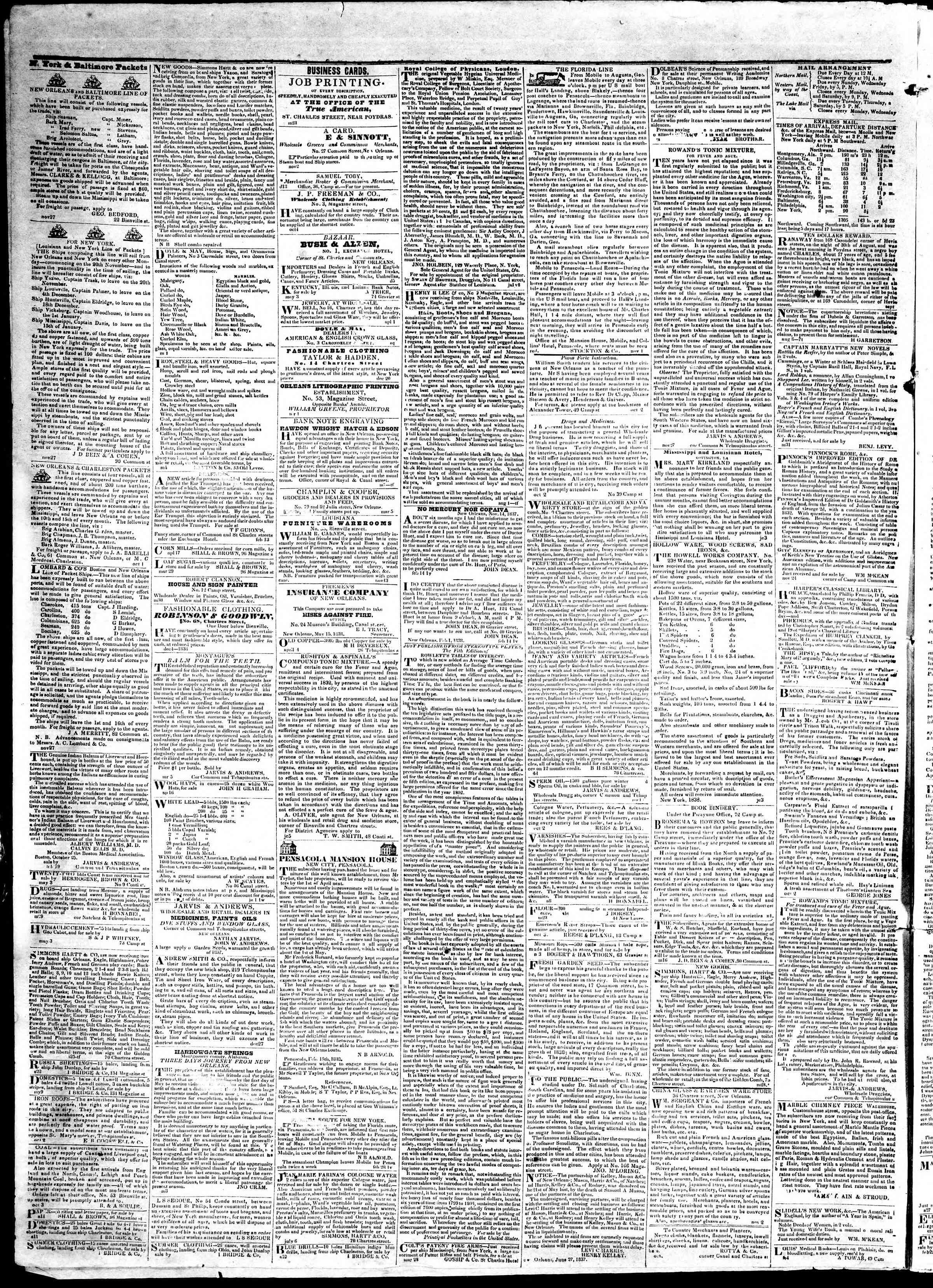 May 21, 1839 Tarihli True American Gazetesi Sayfa 4