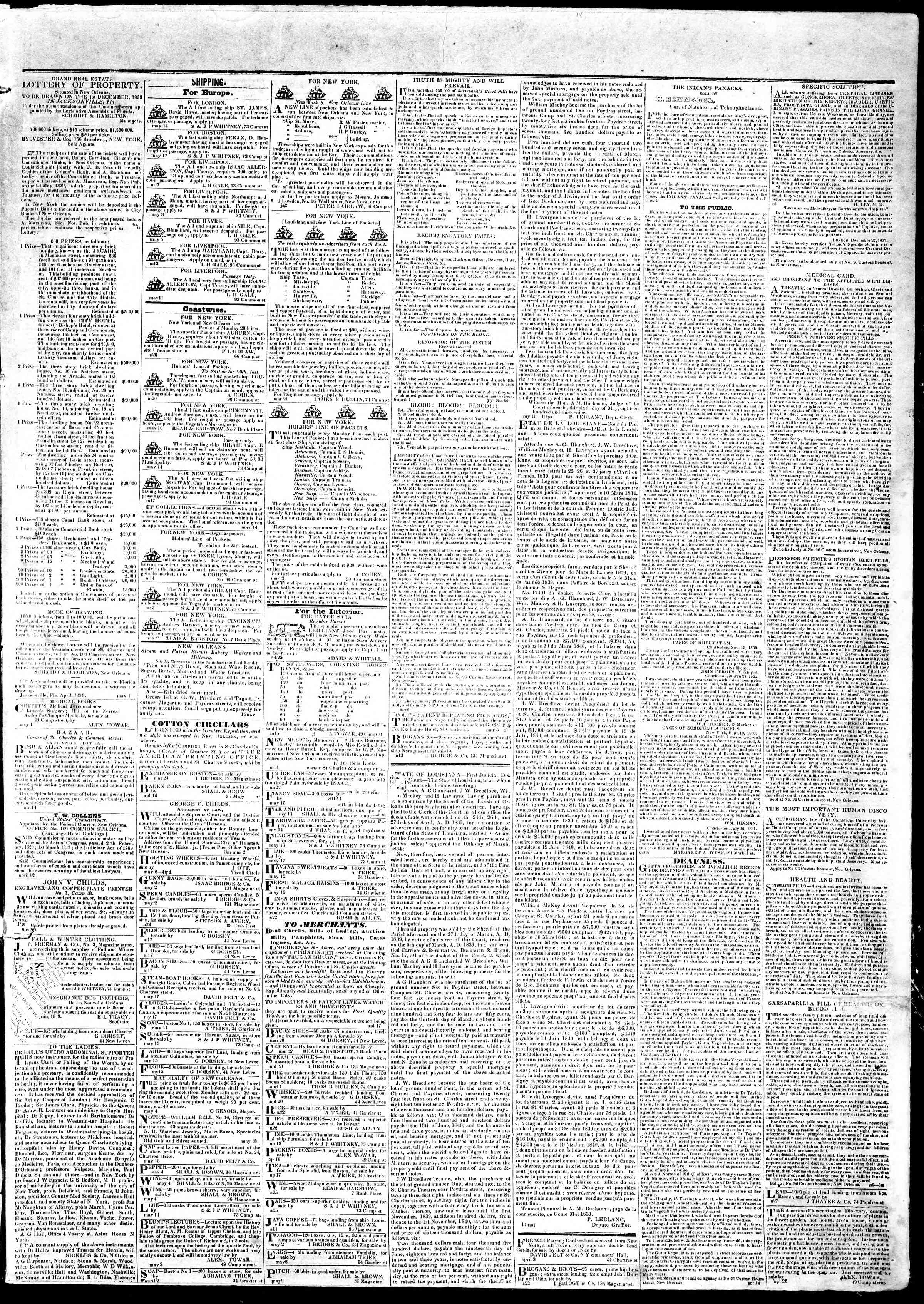 Newspaper of True American dated May 23, 1839 Page 3