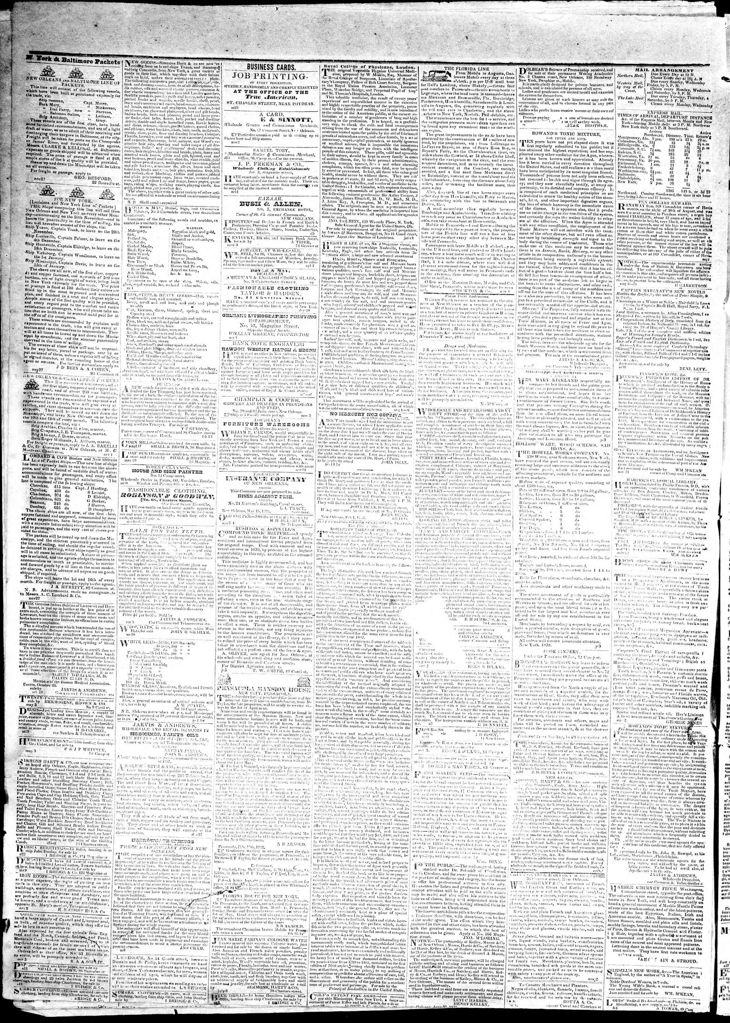May 23, 1839 Tarihli True American Gazetesi Sayfa 4