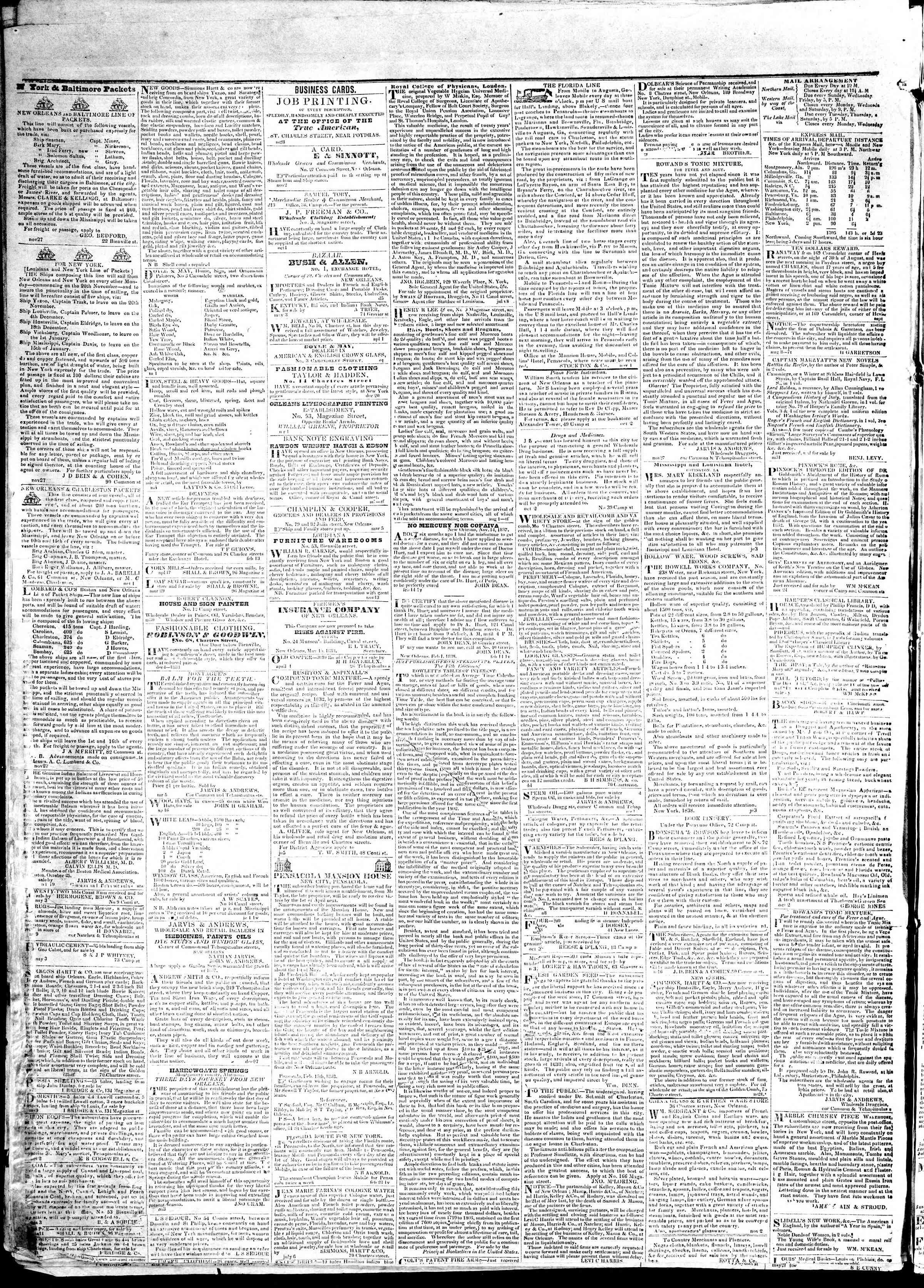 May 25, 1839 Tarihli True American Gazetesi Sayfa 4