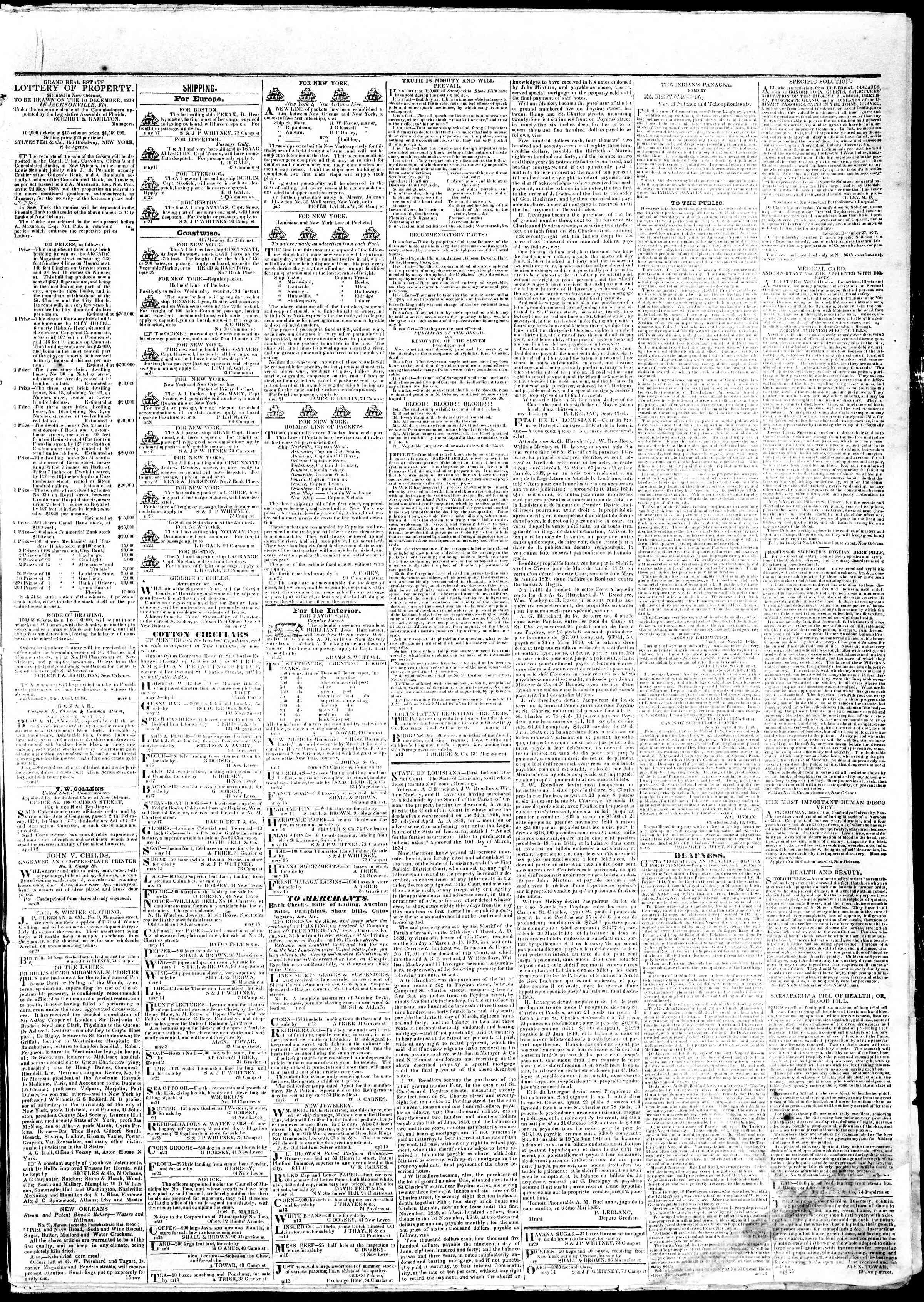 May 27, 1839 Tarihli True American Gazetesi Sayfa 3