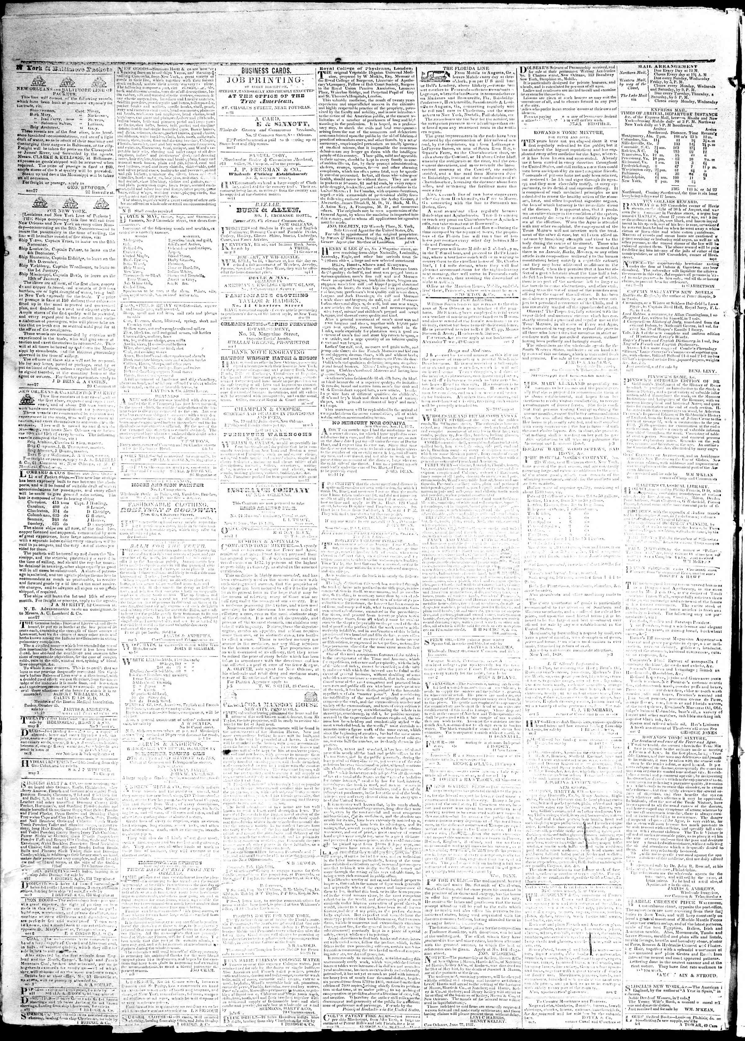 Newspaper of True American dated May 29, 1839 Page 4