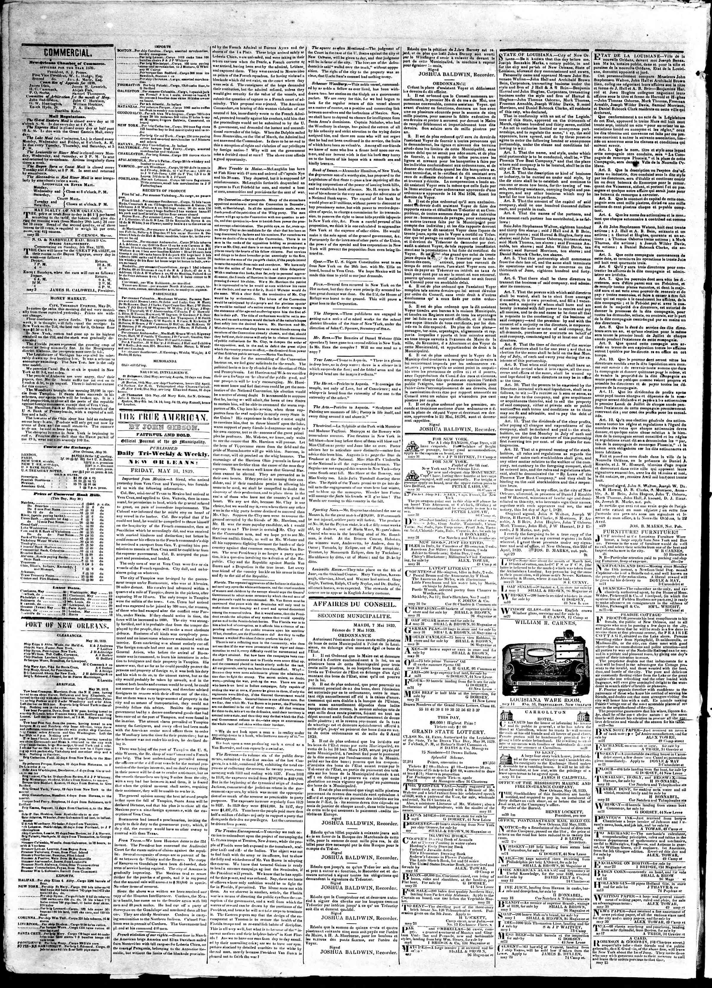 Newspaper of True American dated 31 Mayıs 1839 Page 2
