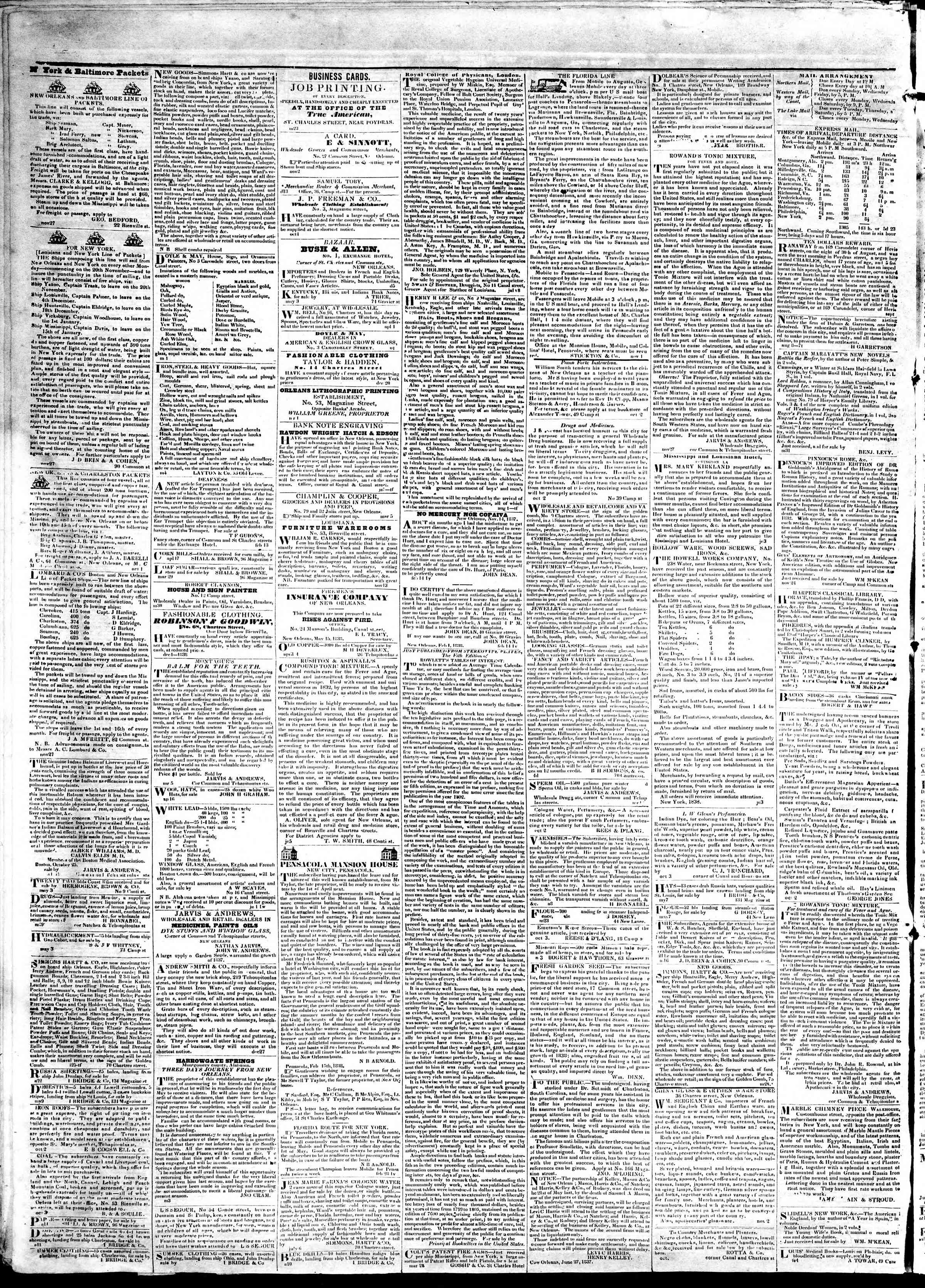 May 31, 1839 Tarihli True American Gazetesi Sayfa 4