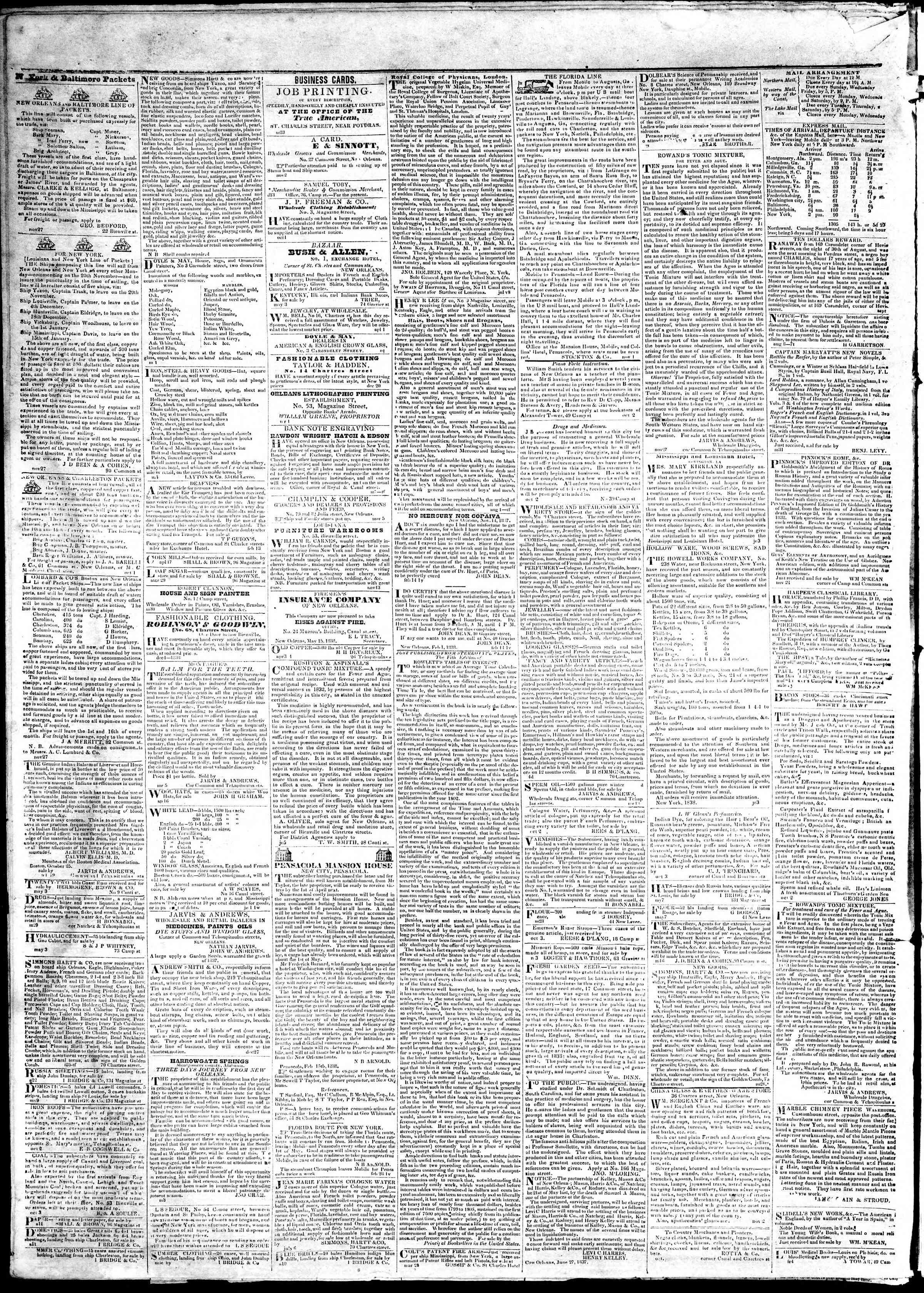 June 1, 1839 Tarihli True American Gazetesi Sayfa 4