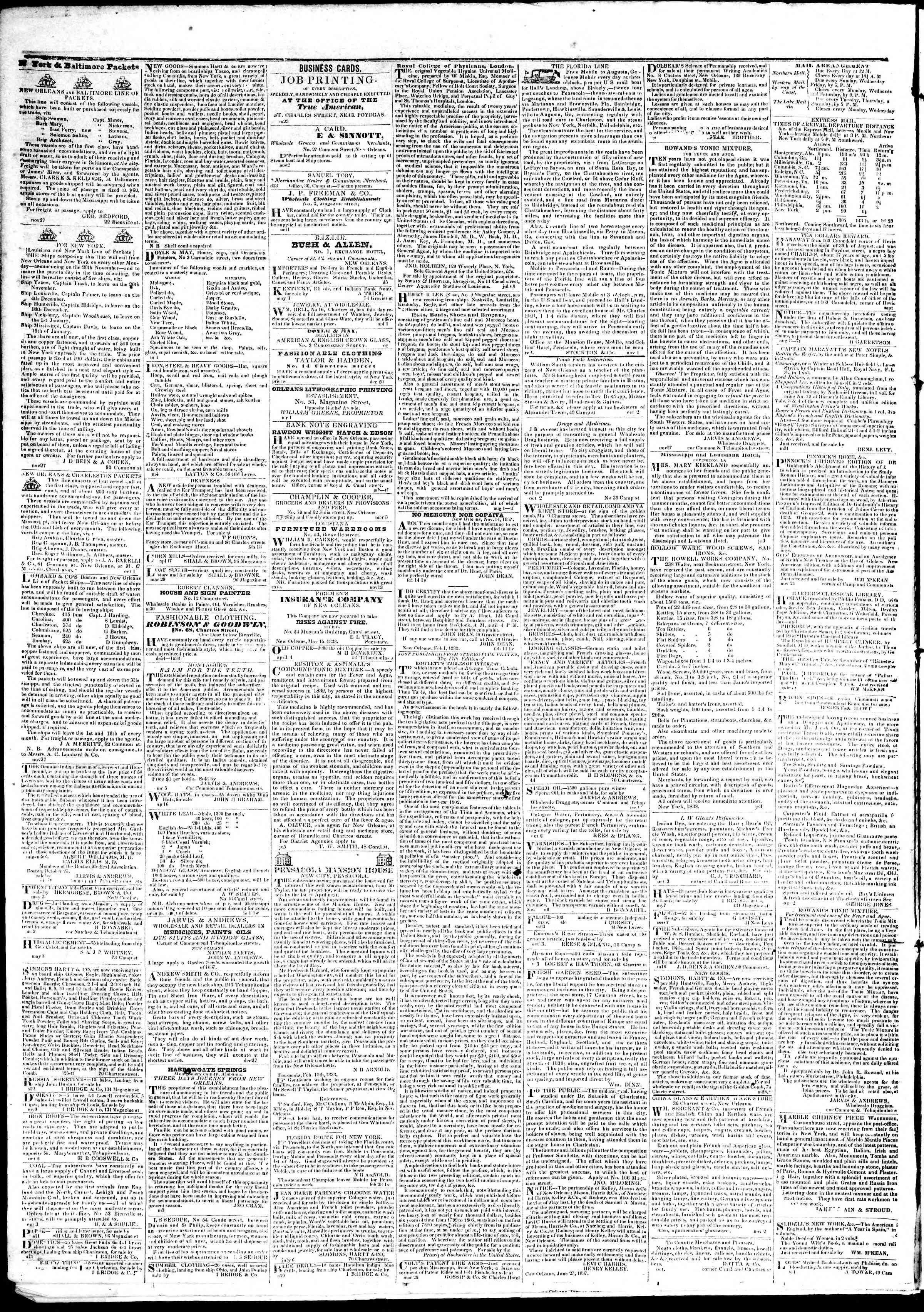 June 5, 1839 Tarihli True American Gazetesi Sayfa 4