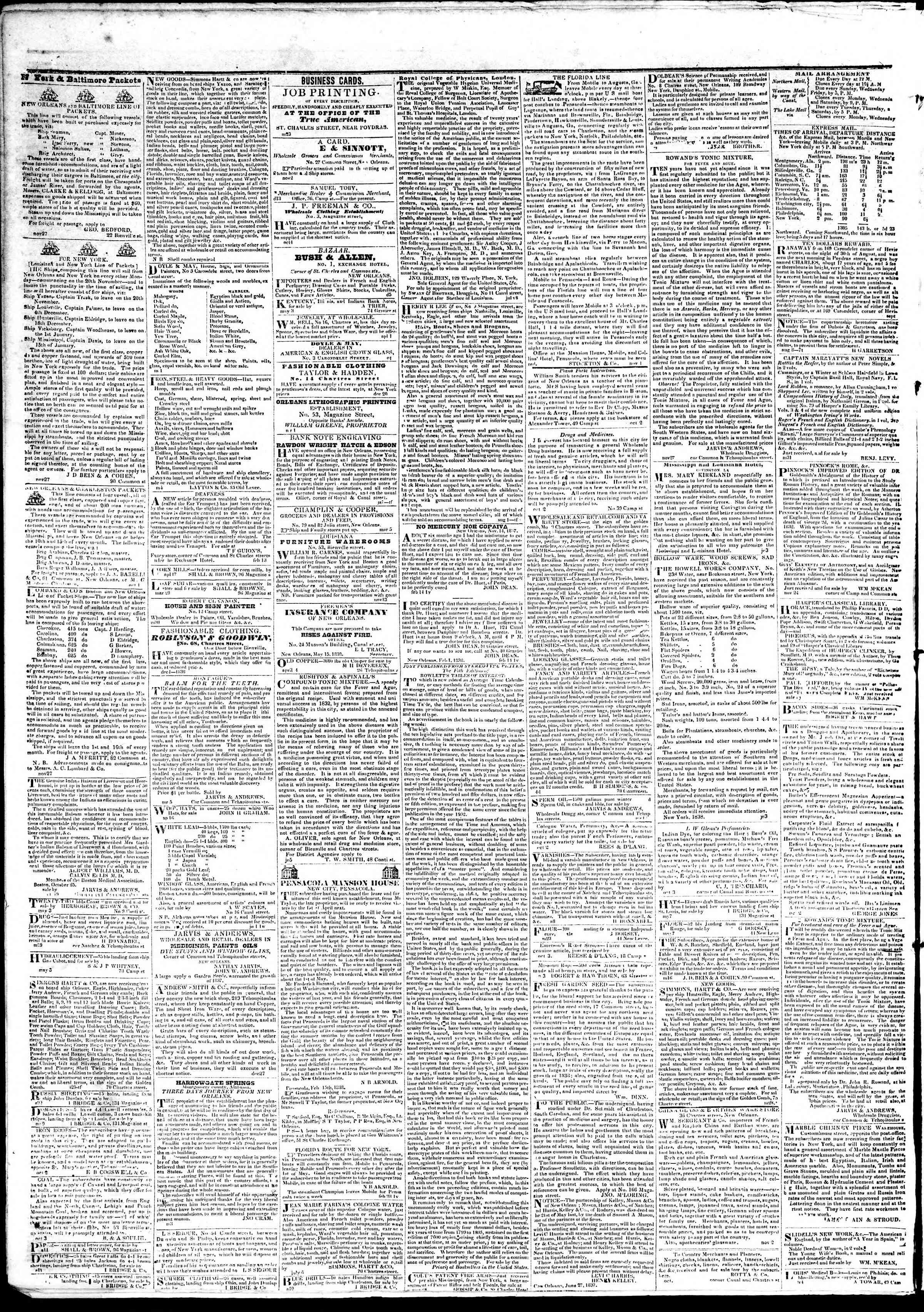 June 6, 1839 Tarihli True American Gazetesi Sayfa 4