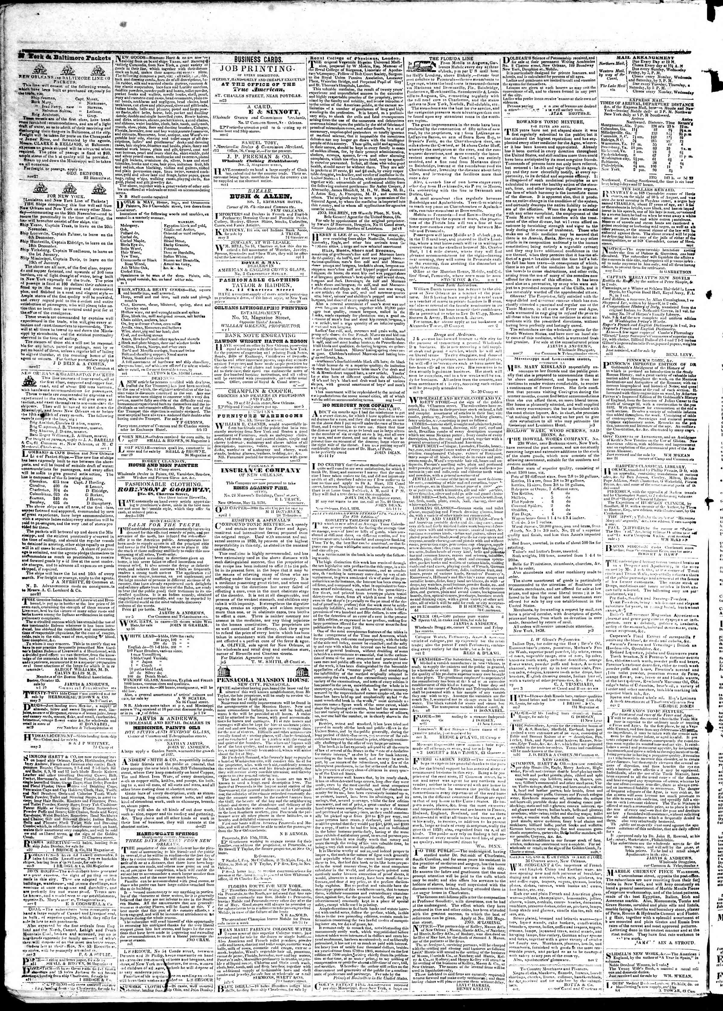 Newspaper of True American dated June 8, 1839 Page 4
