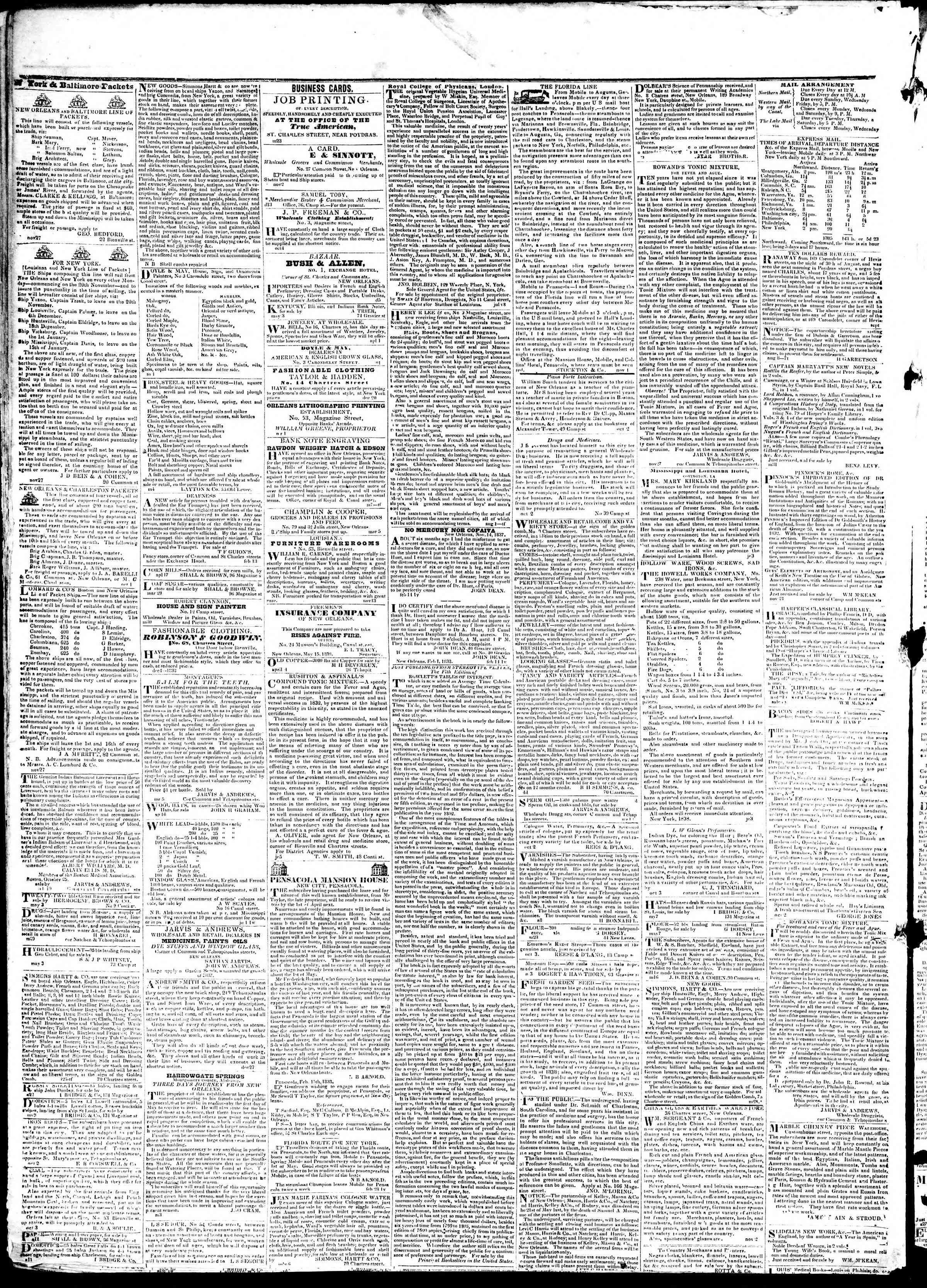 June 25, 1839 Tarihli True American Gazetesi Sayfa 4