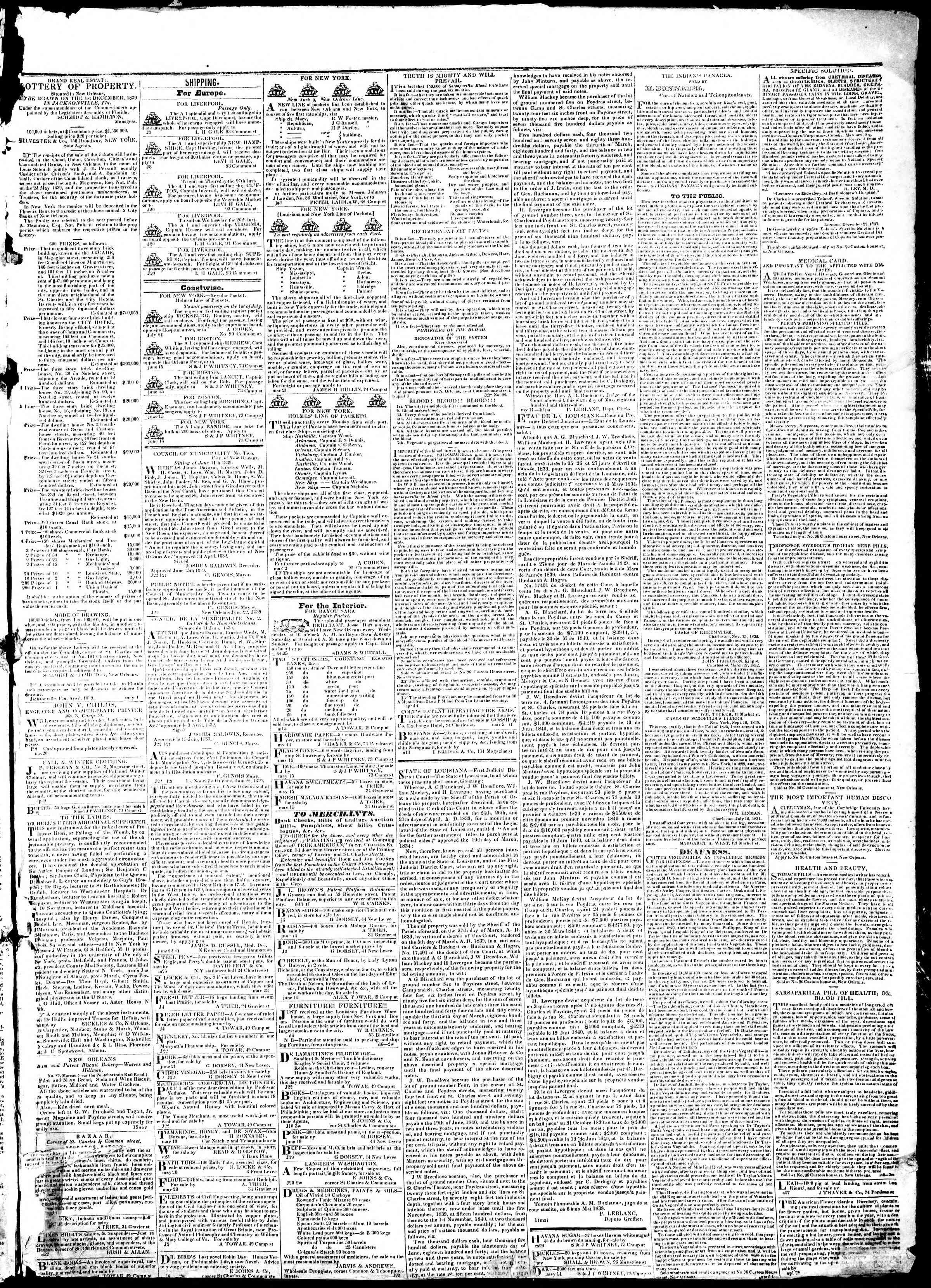 Newspaper of True American dated June 27, 1839 Page 3