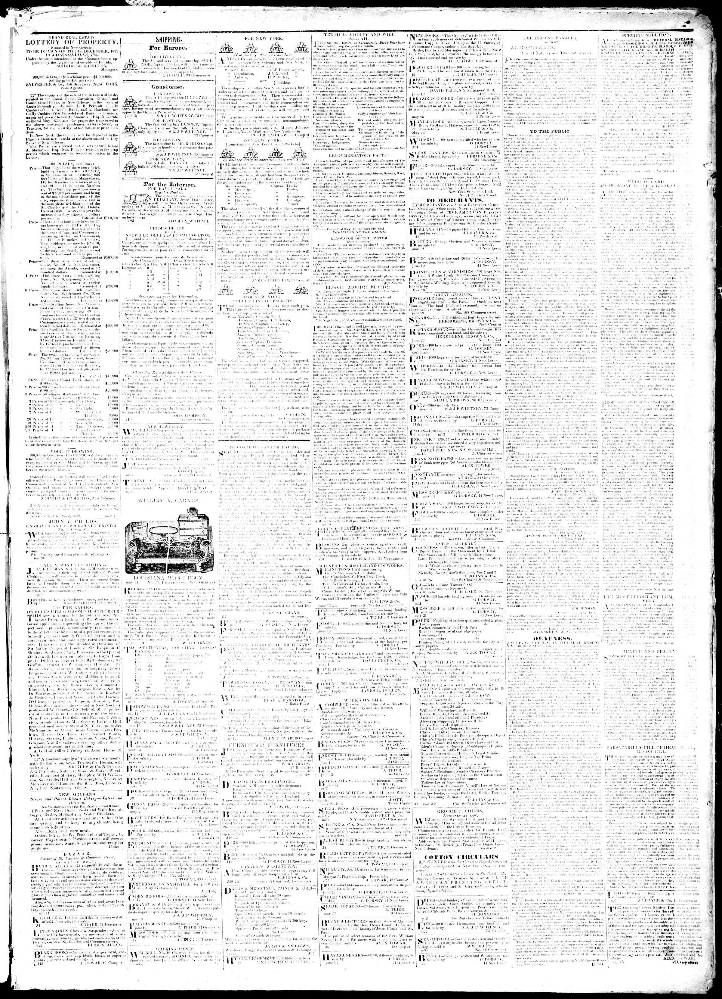 Newspaper of True American dated July 4, 1839 Page 3