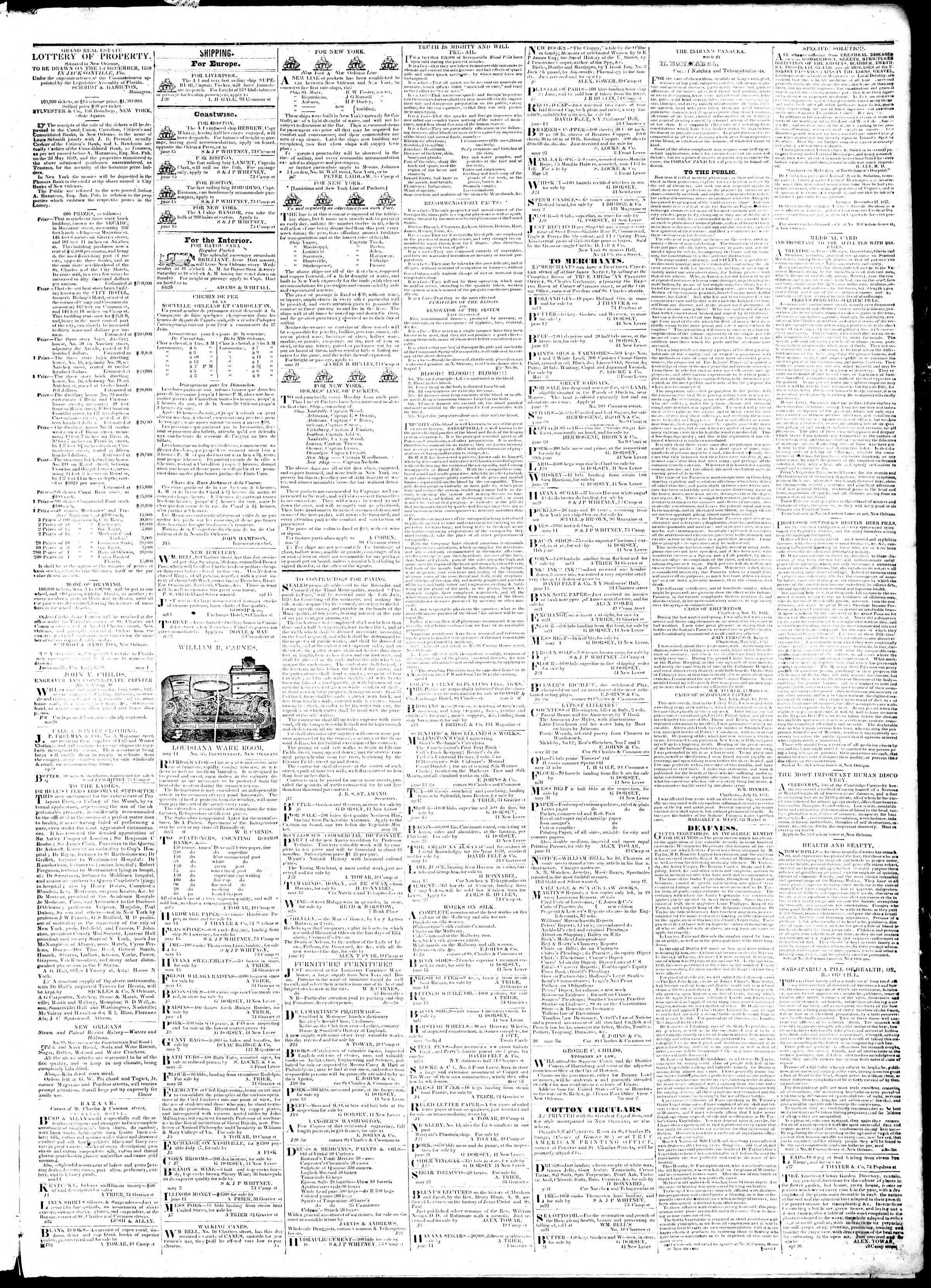 July 9, 1839 Tarihli True American Gazetesi Sayfa 3