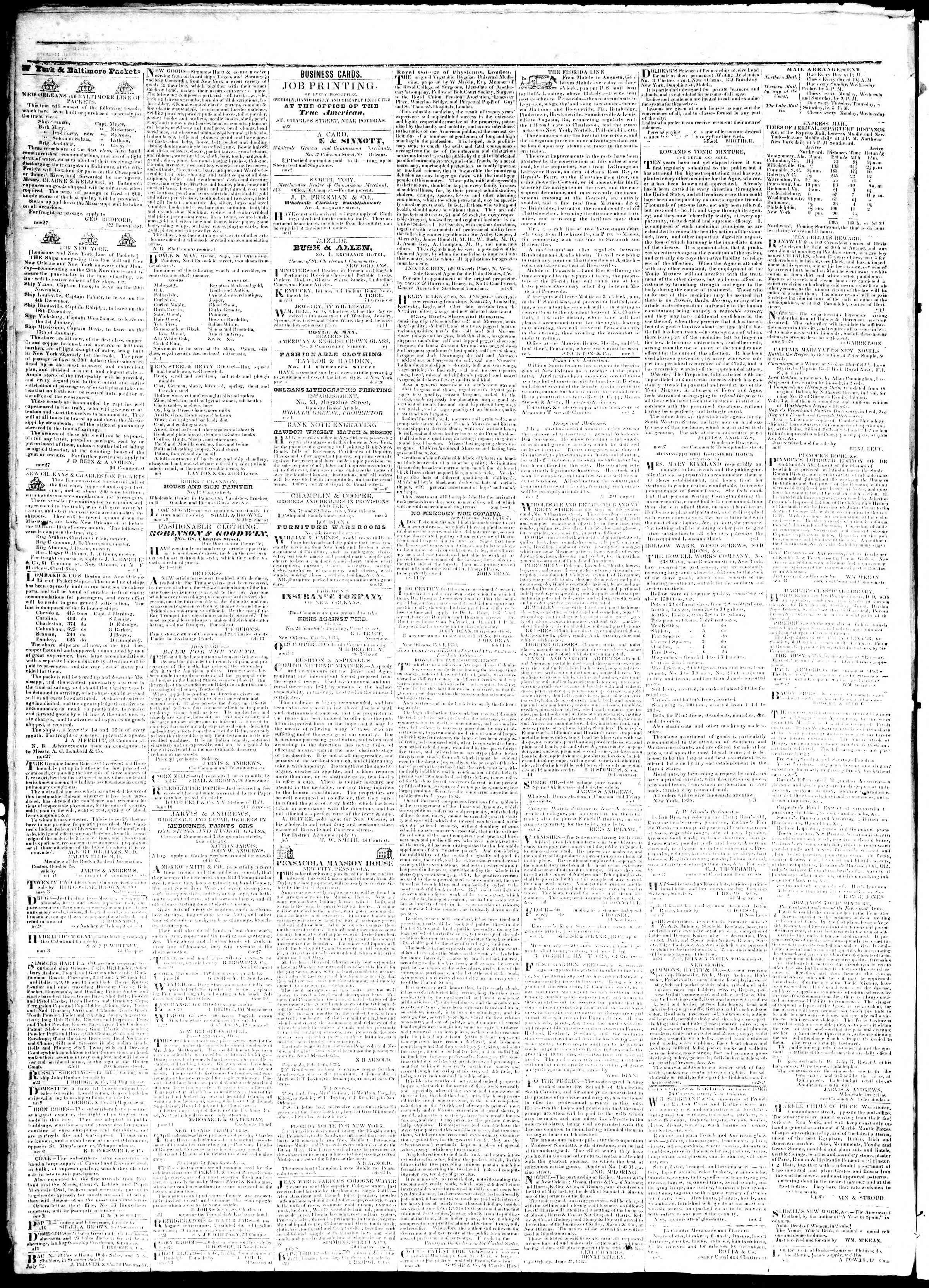 Newspaper of True American dated July 11, 1839 Page 4