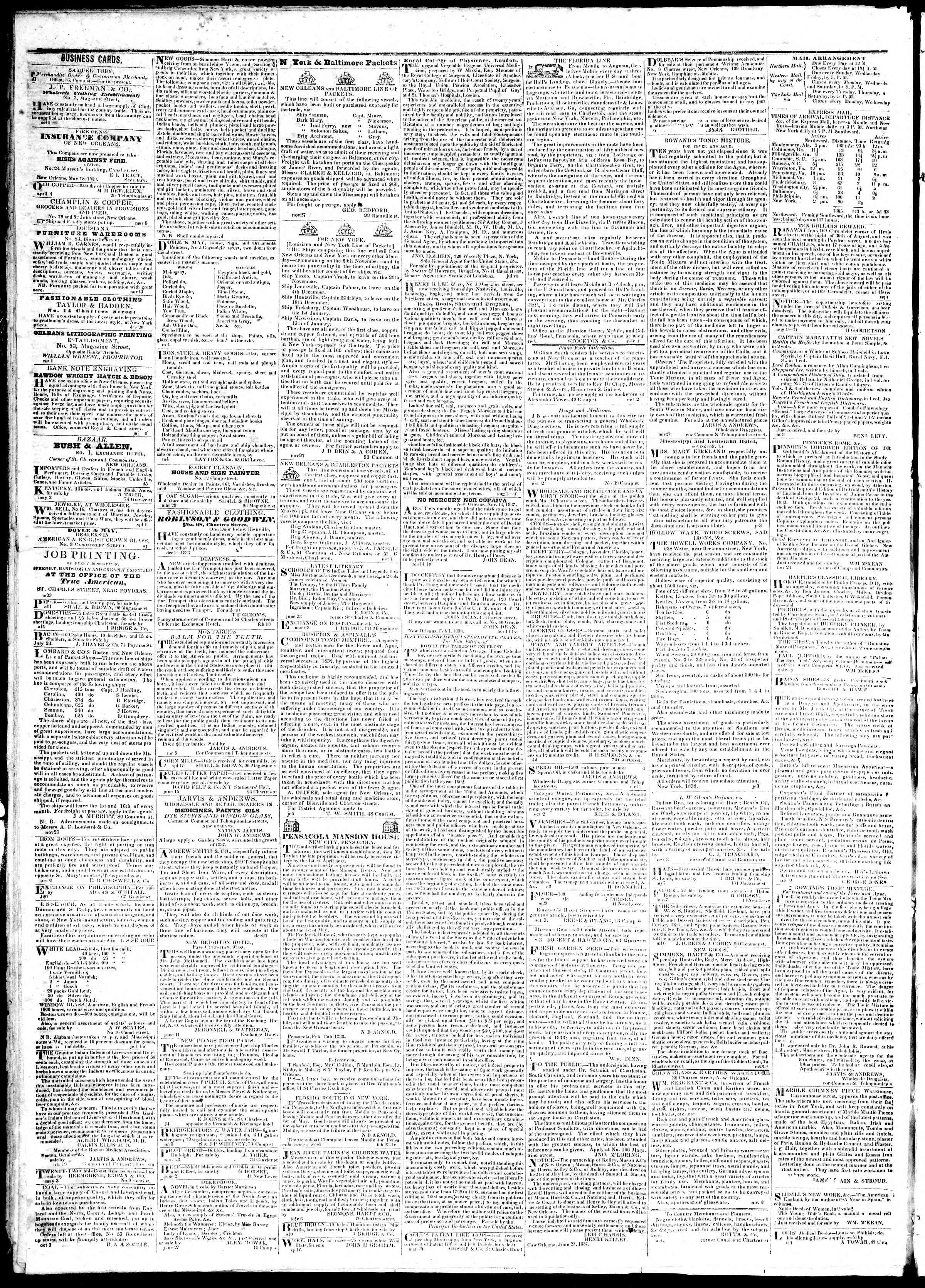 July 13, 1839 Tarihli True American Gazetesi Sayfa 4
