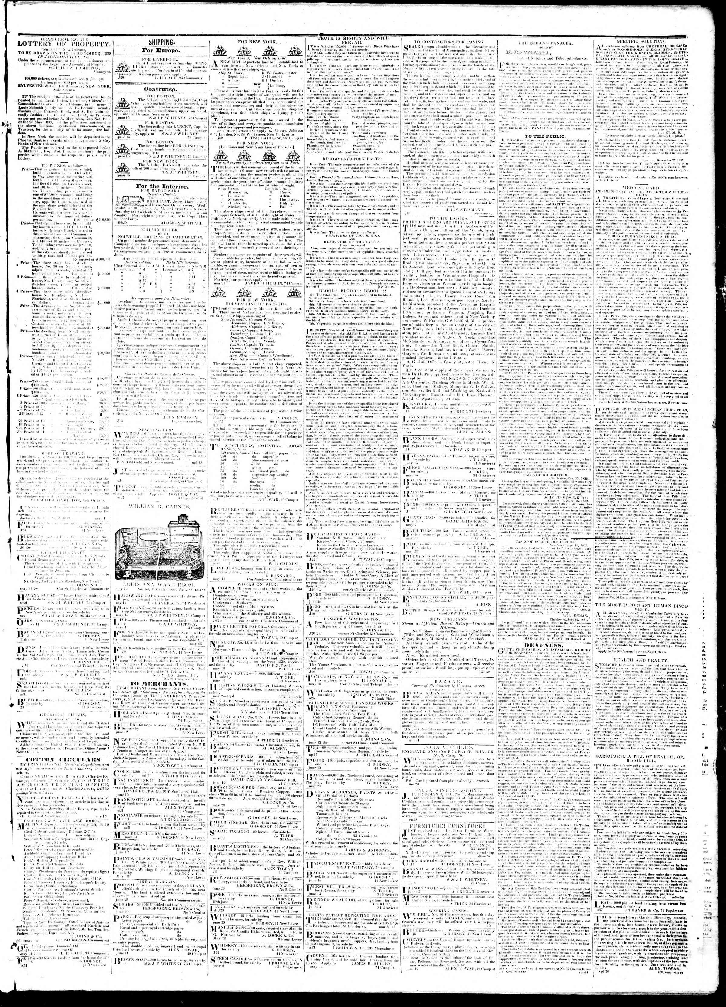 July 16, 1839 Tarihli True American Gazetesi Sayfa 3