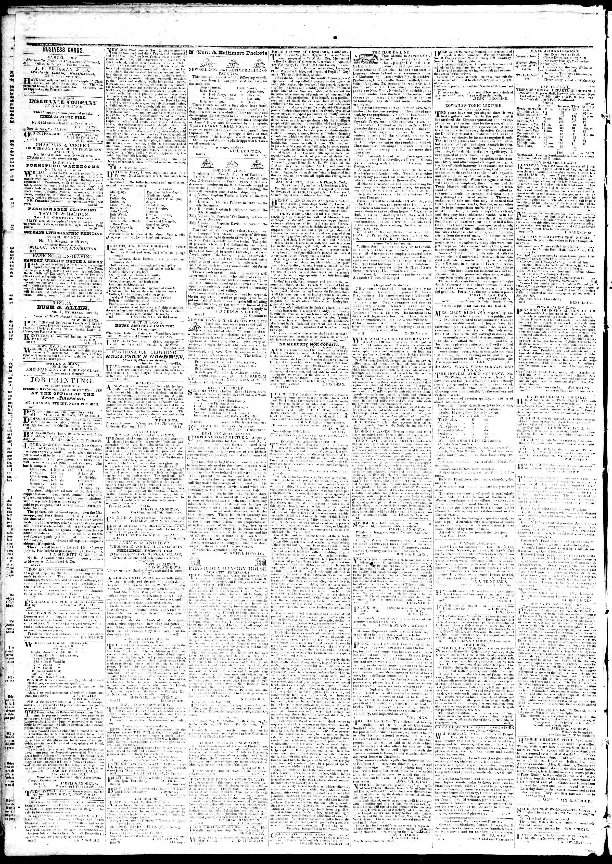16 Temmuz 1839 Tarihli True American Gazetesi Sayfa 4