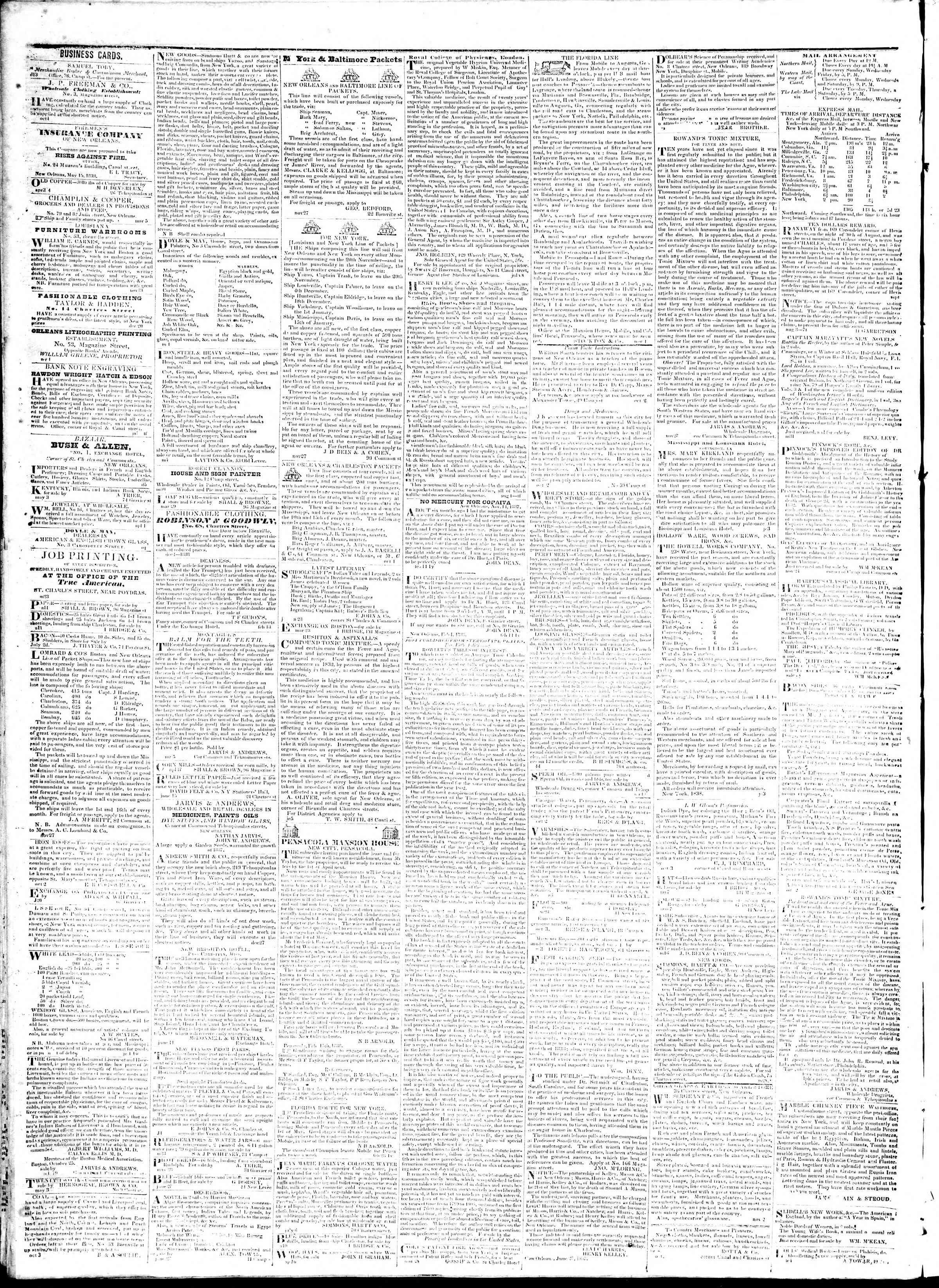 July 23, 1839 Tarihli True American Gazetesi Sayfa 4