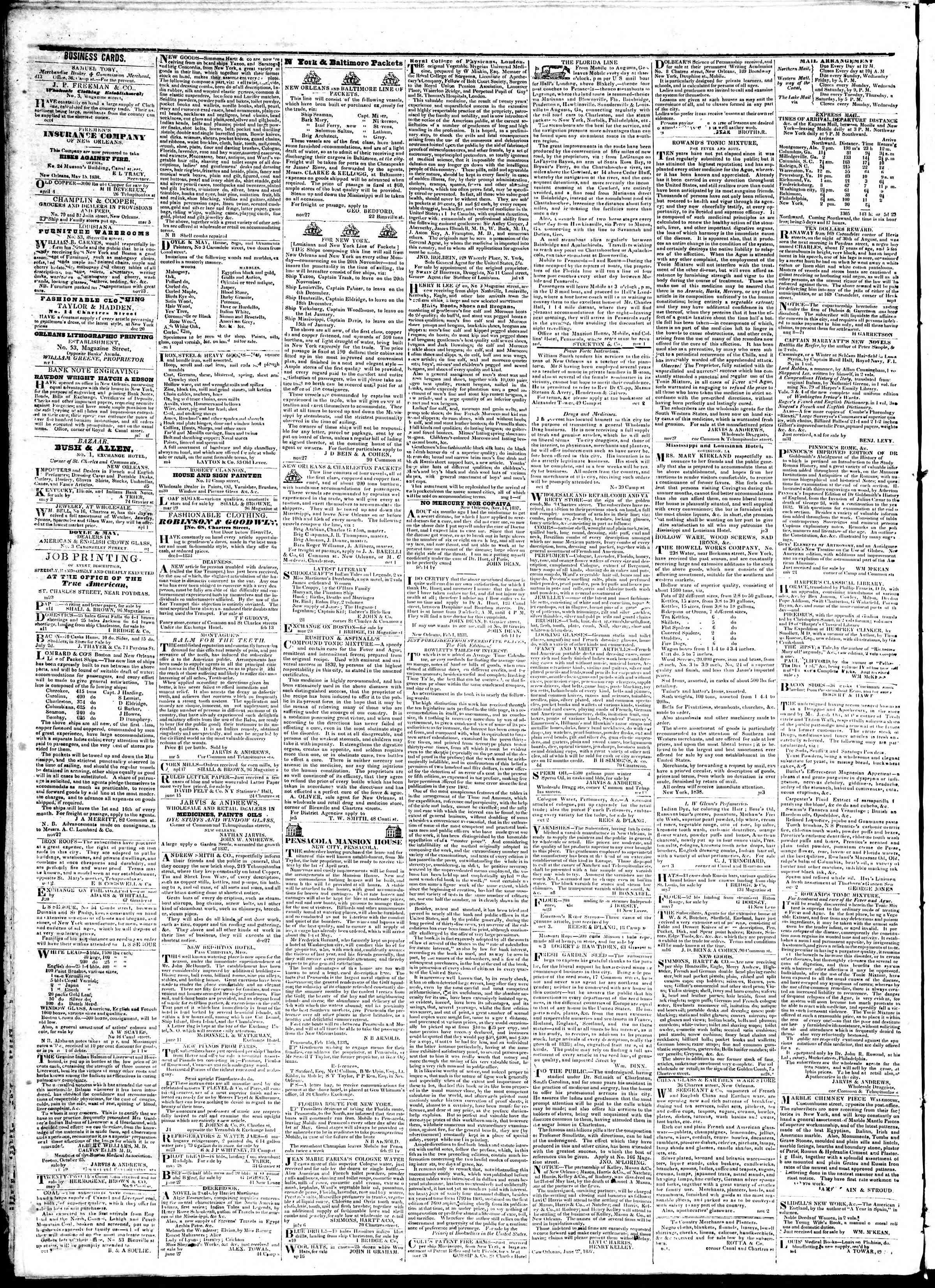 July 25, 1839 Tarihli True American Gazetesi Sayfa 4
