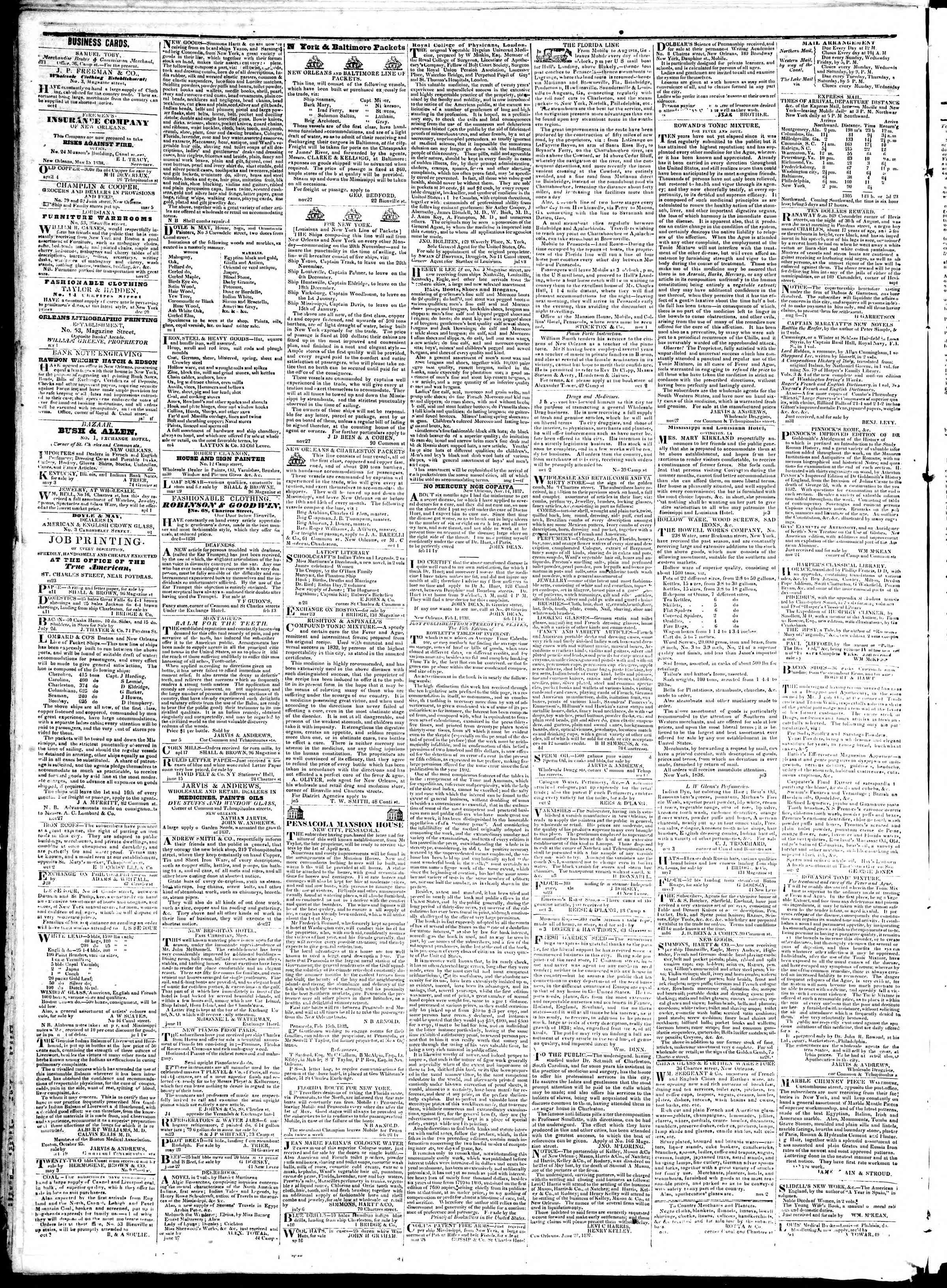 Newspaper of True American dated July 27, 1839 Page 4