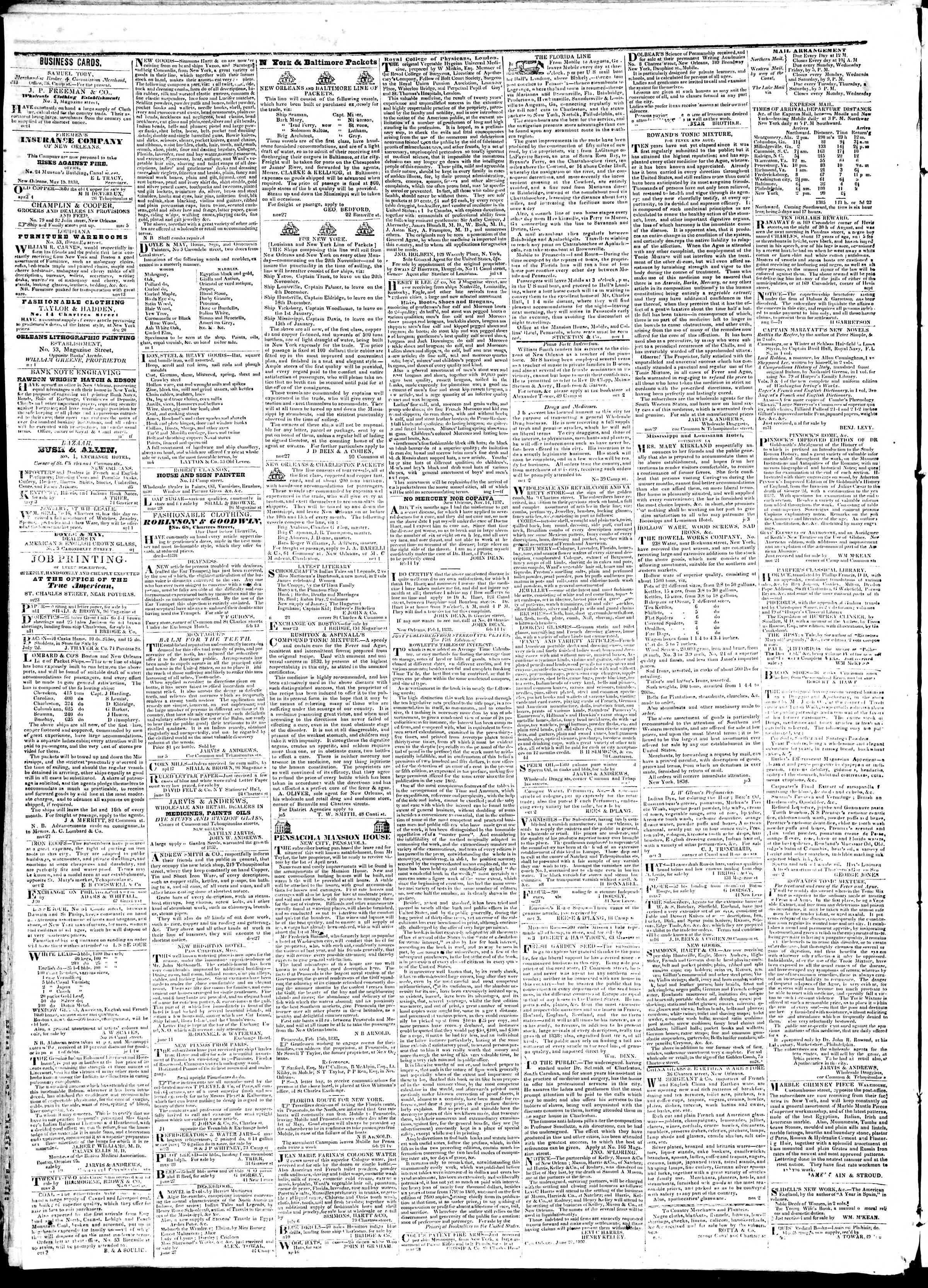 30 Temmuz 1839 tarihli True American Gazetesi Sayfa 4