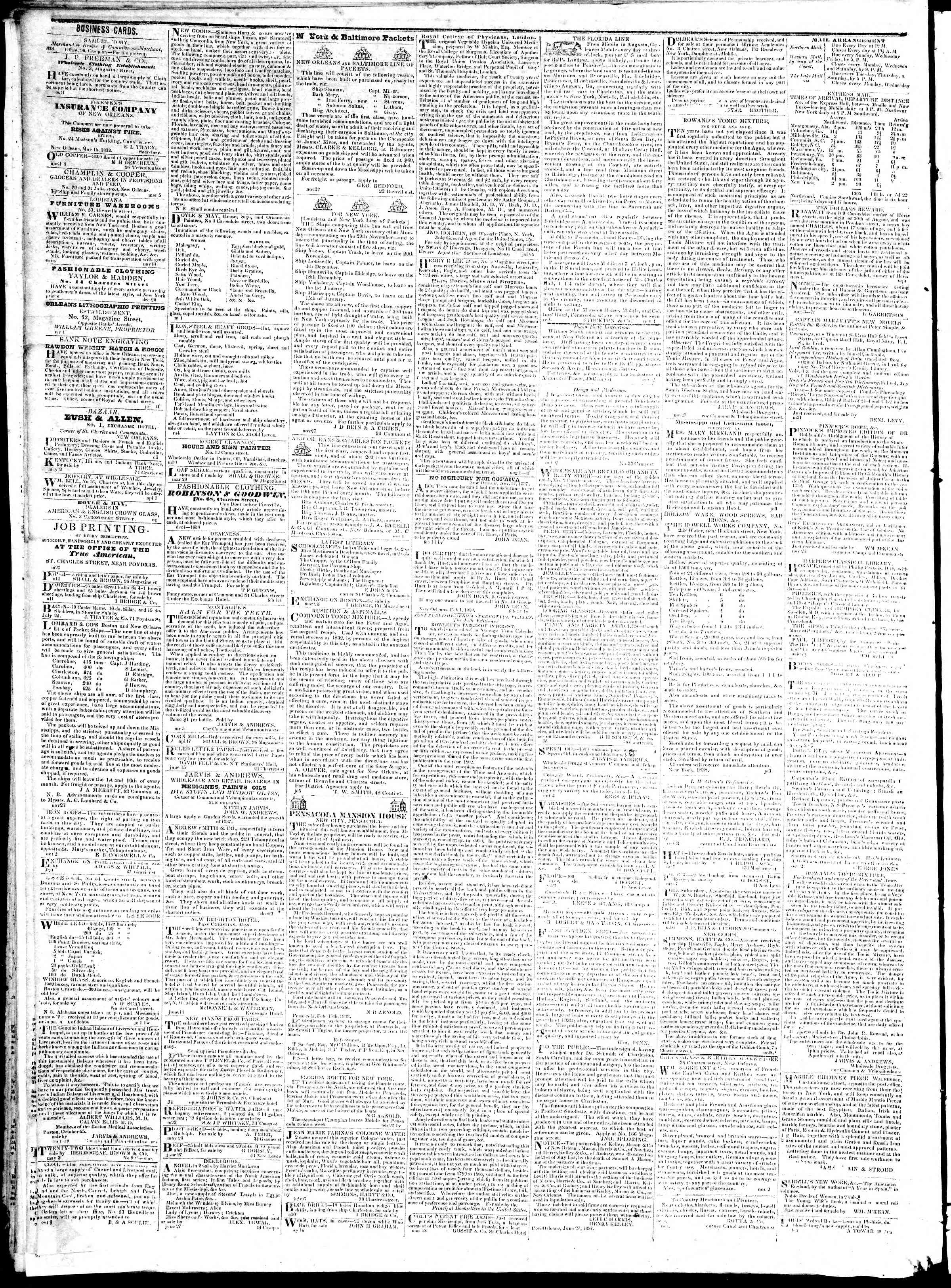 Newspaper of True American dated August 3, 1839 Page 4