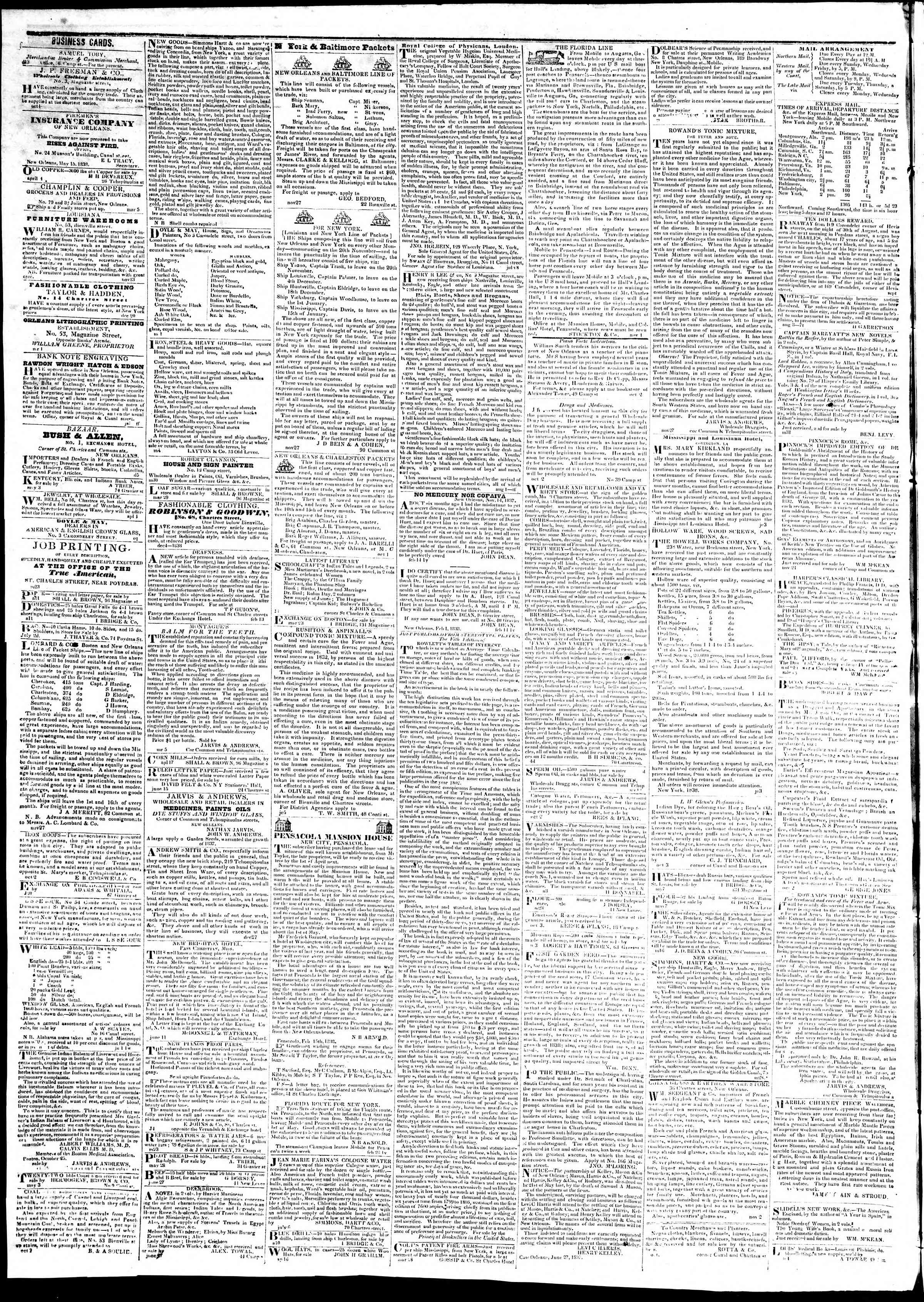 Newspaper of True American dated August 6, 1839 Page 4
