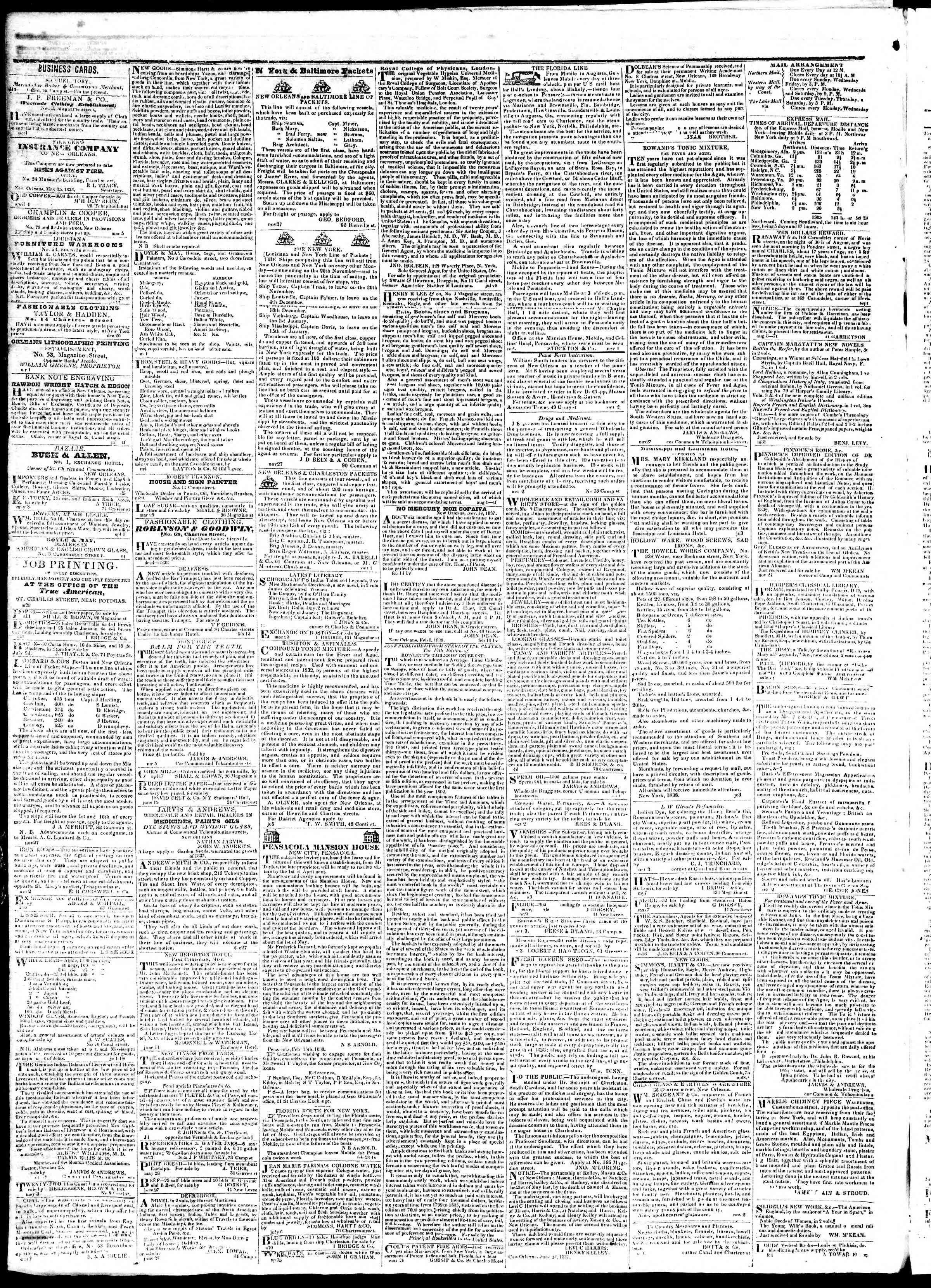 Newspaper of True American dated August 8, 1839 Page 4