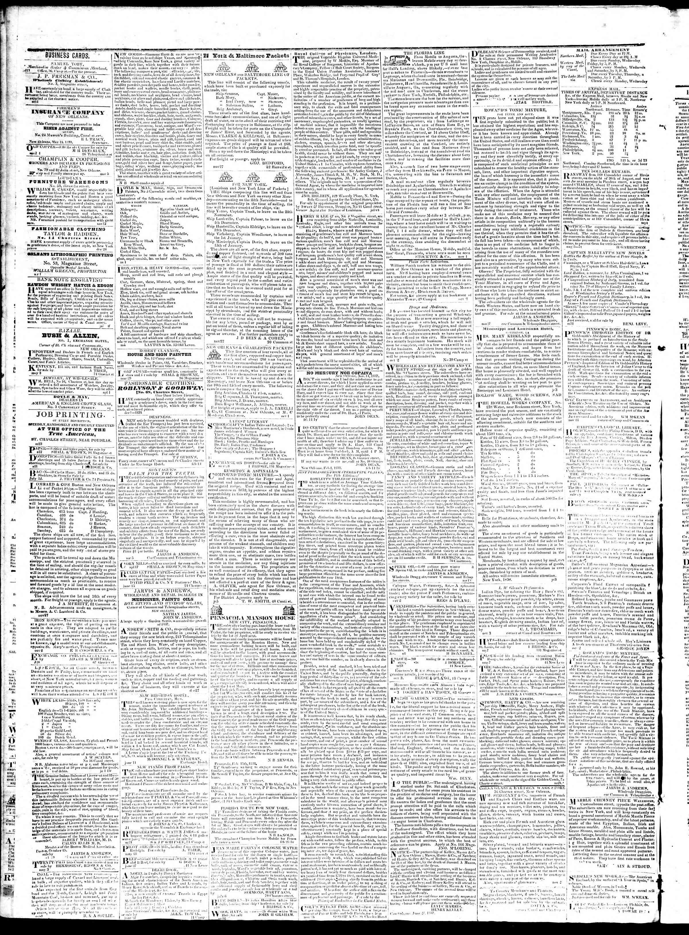August 17, 1839 Tarihli True American Gazetesi Sayfa 4