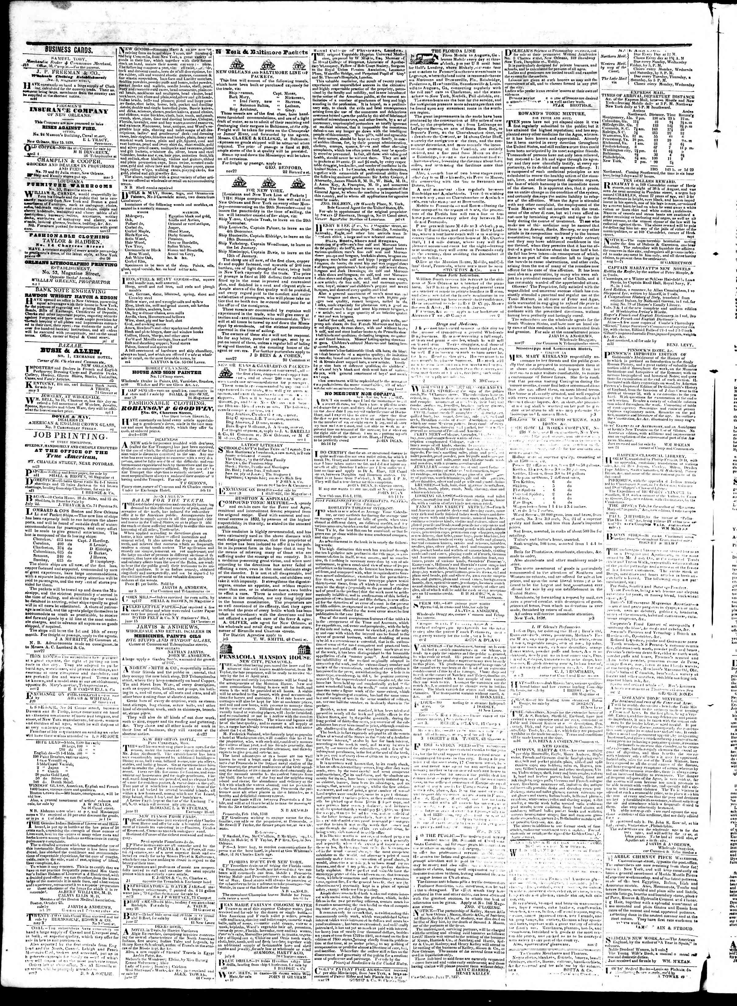 Newspaper of True American dated September 10, 1839 Page 4