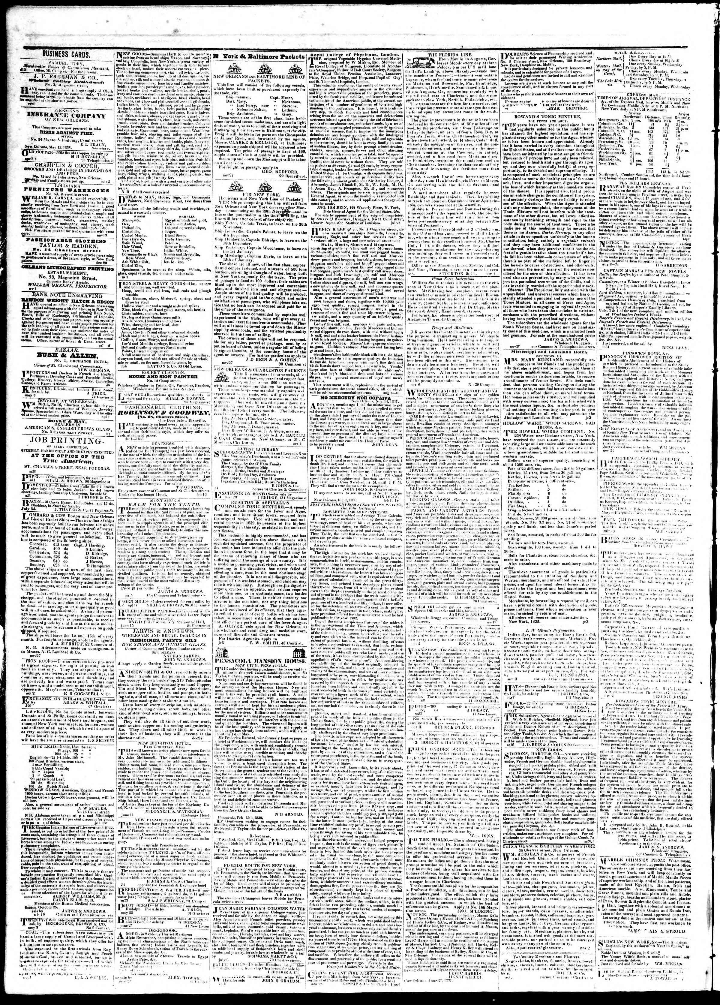 September 14, 1839 Tarihli True American Gazetesi Sayfa 4