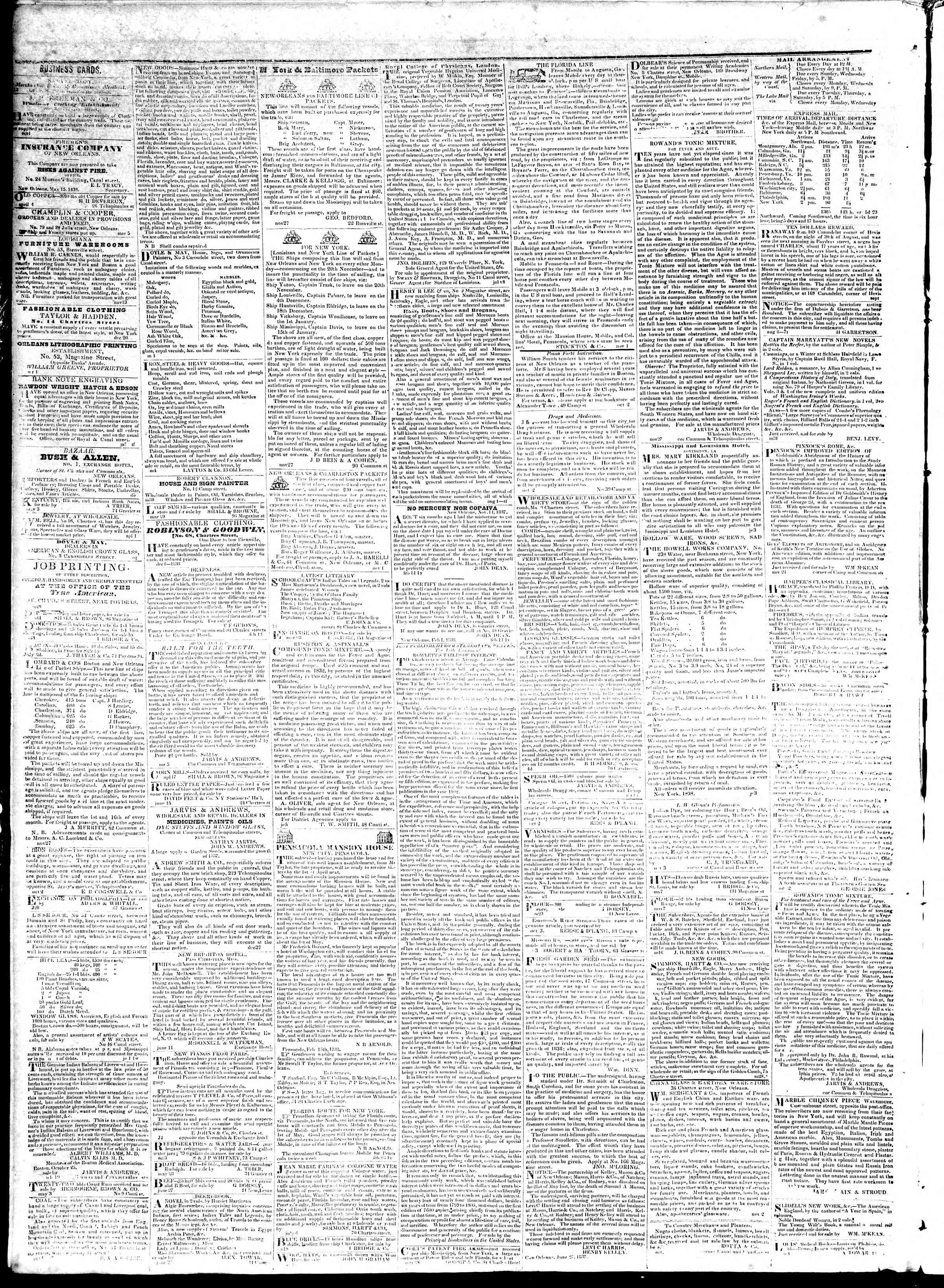 Newspaper of True American dated September 21, 1839 Page 4