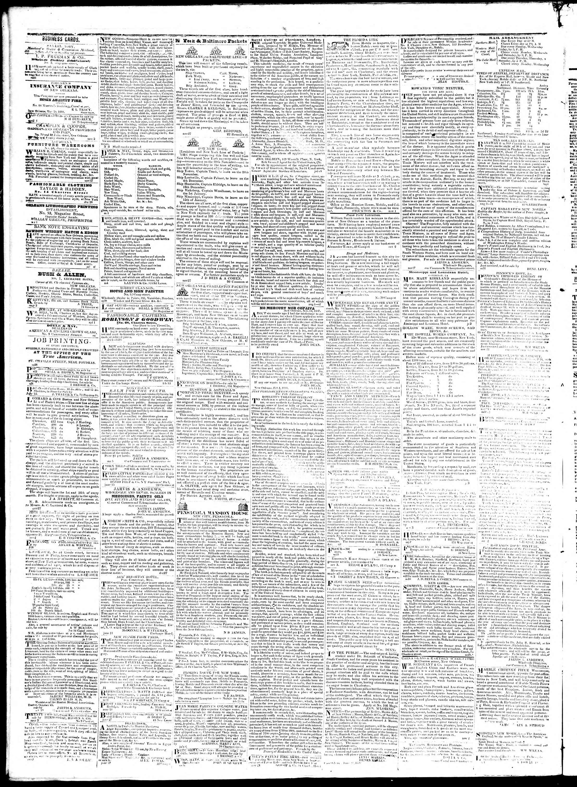 September 24, 1839 Tarihli True American Gazetesi Sayfa 4