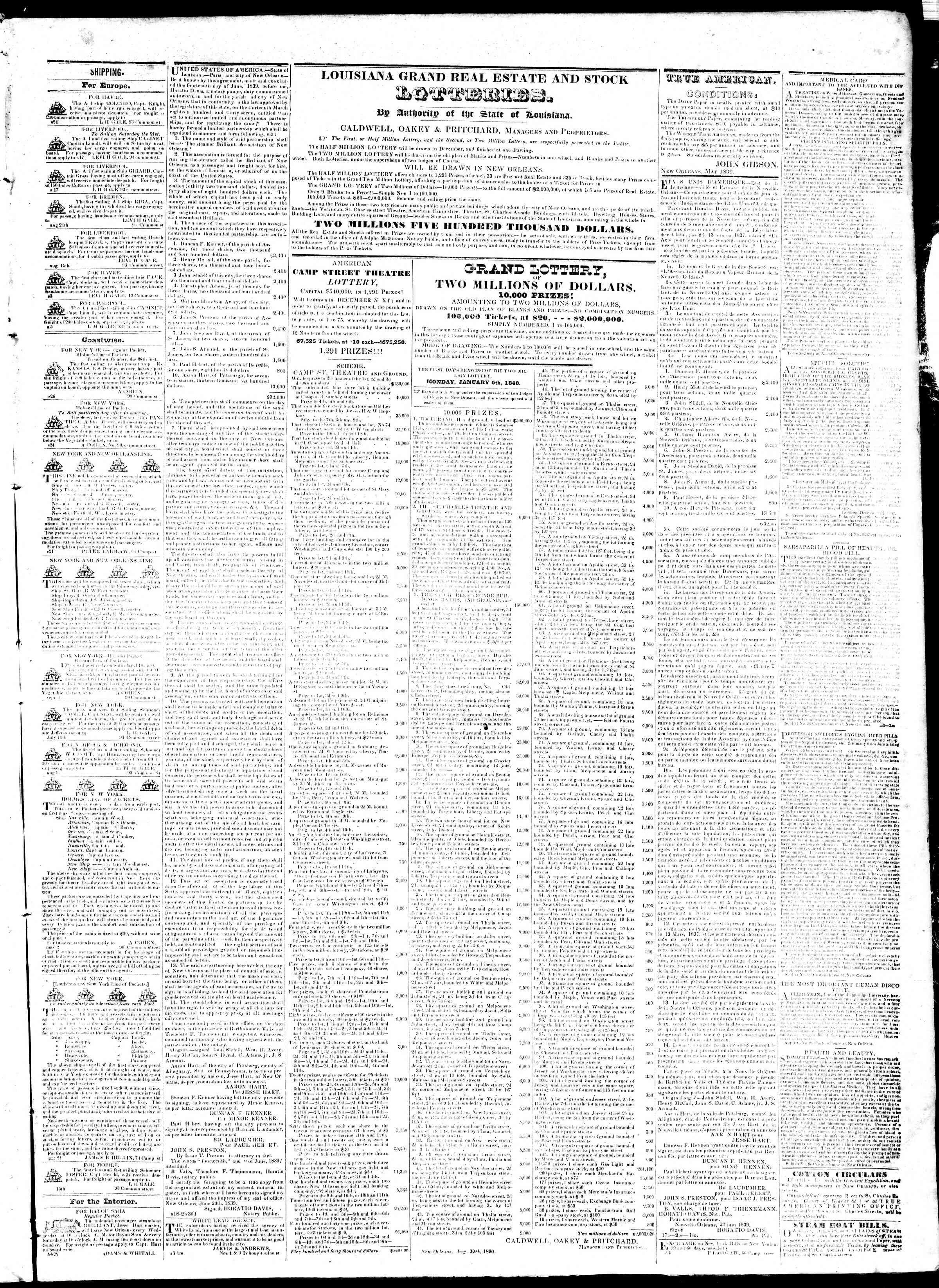 September 28, 1839 Tarihli True American Gazetesi Sayfa 3