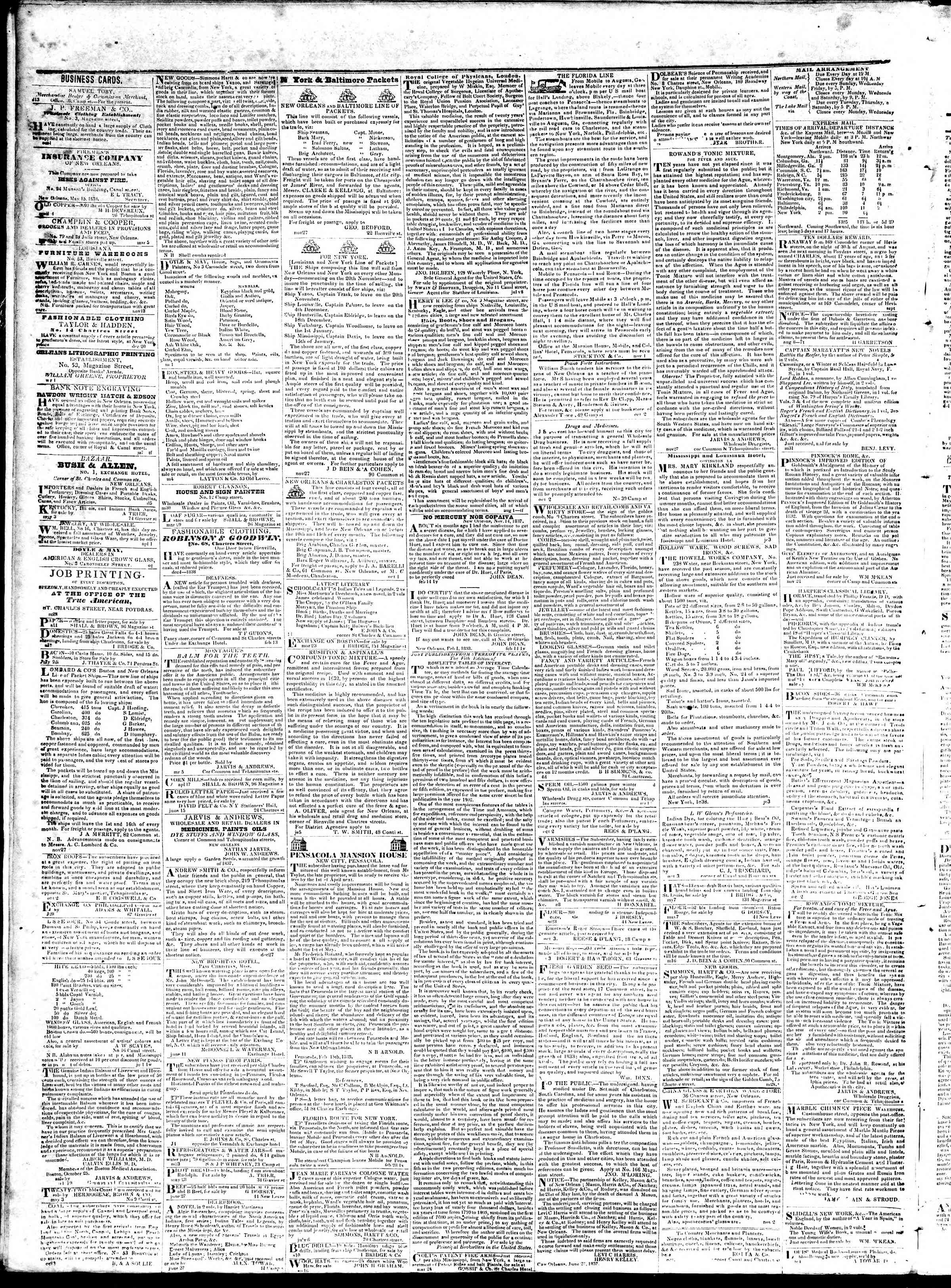 September 28, 1839 Tarihli True American Gazetesi Sayfa 4