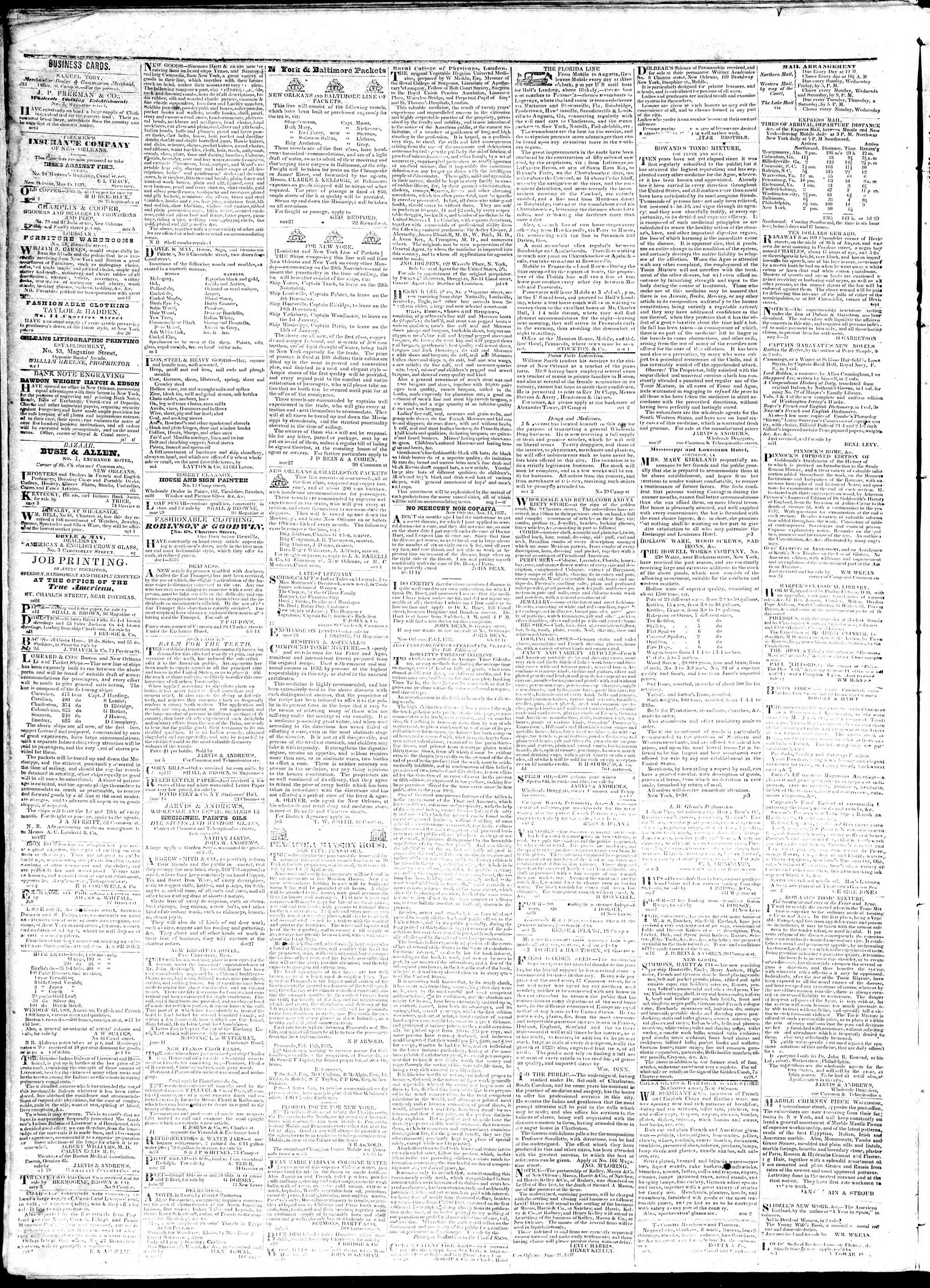 Newspaper of True American dated October 8, 1839 Page 4