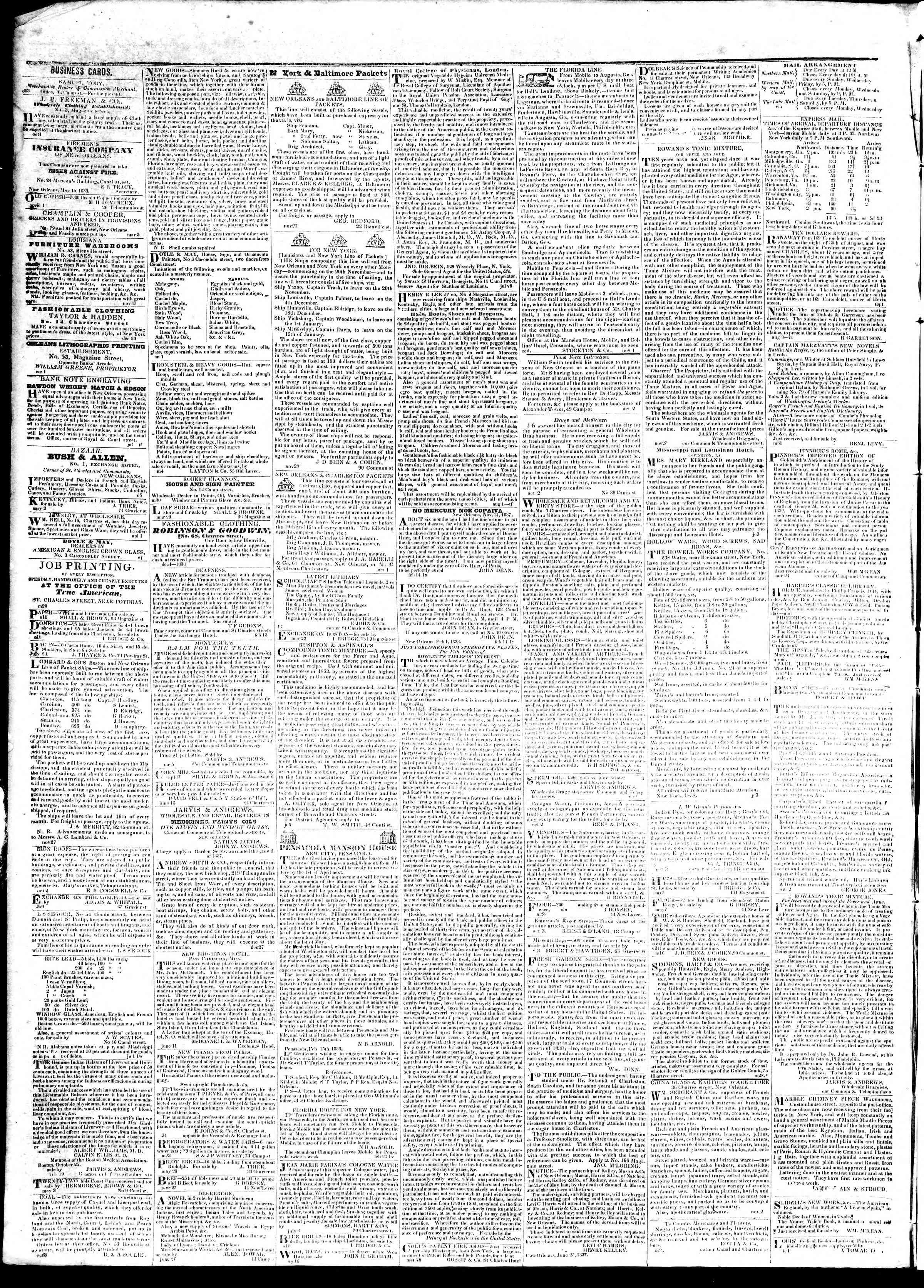 October 10, 1839 Tarihli True American Gazetesi Sayfa 4