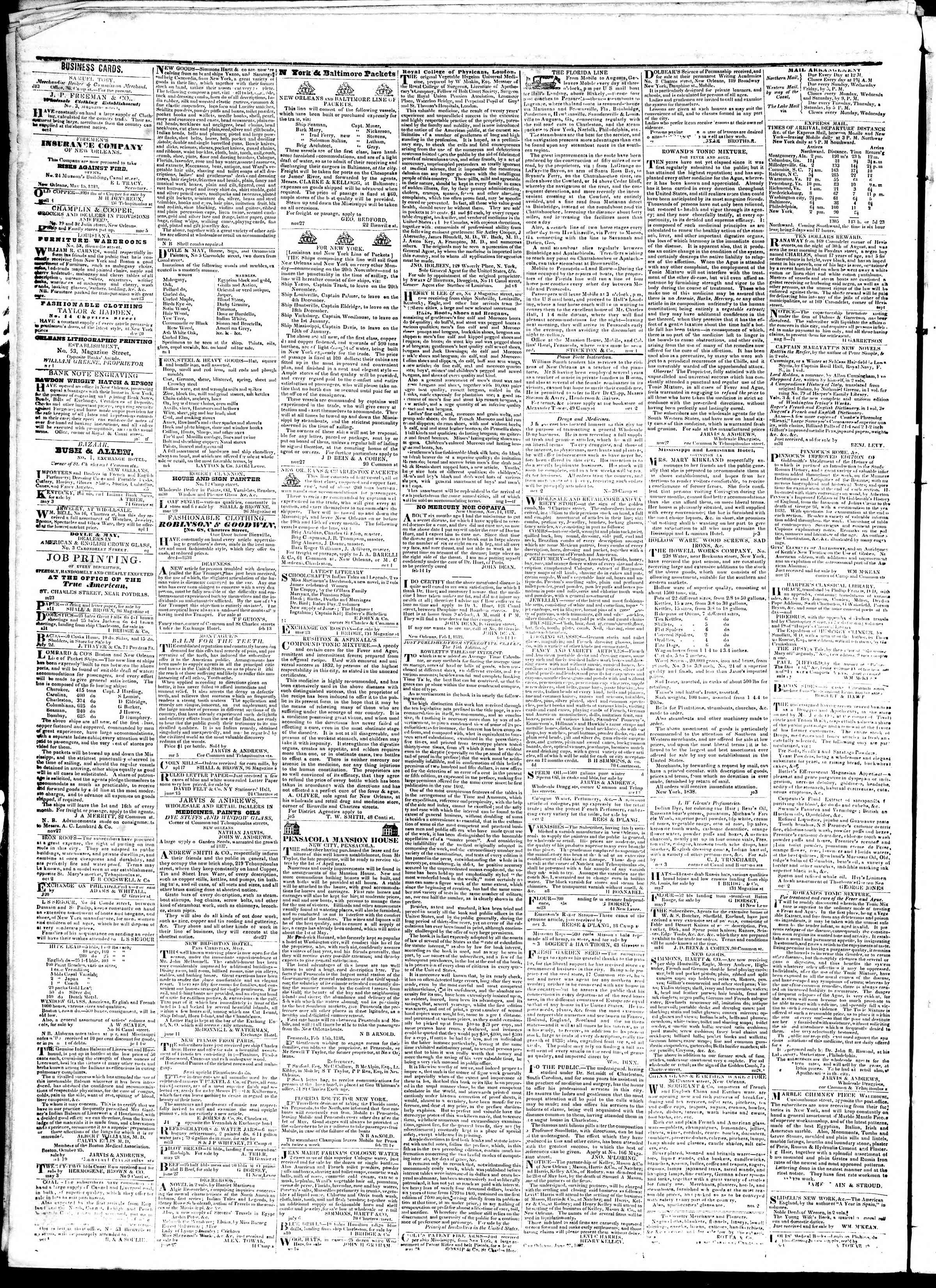 Newspaper of True American dated October 17, 1839 Page 4
