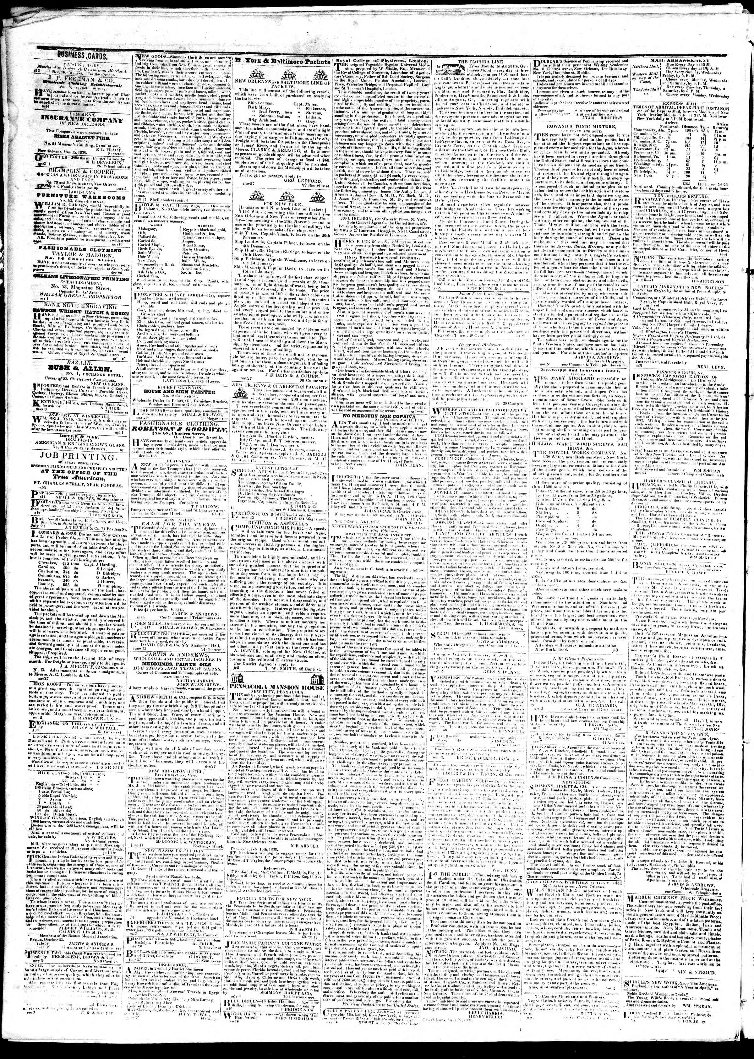 Newspaper of True American dated October 19, 1839 Page 4