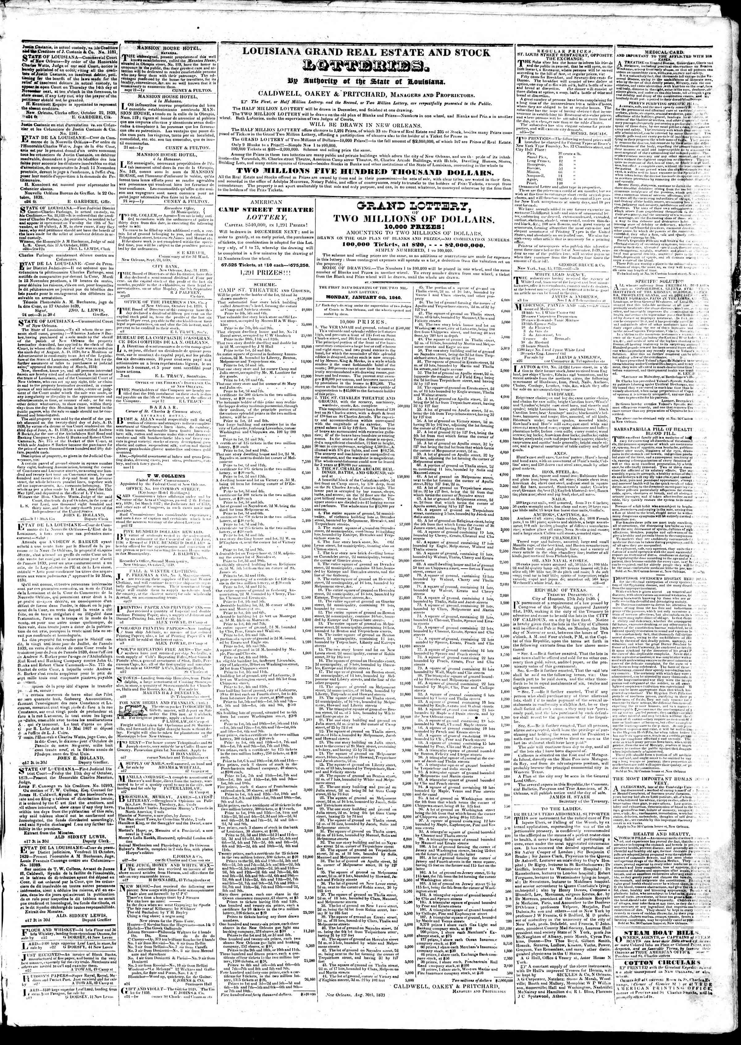 Newspaper of True American dated 26 Ekim 1839 Page 3