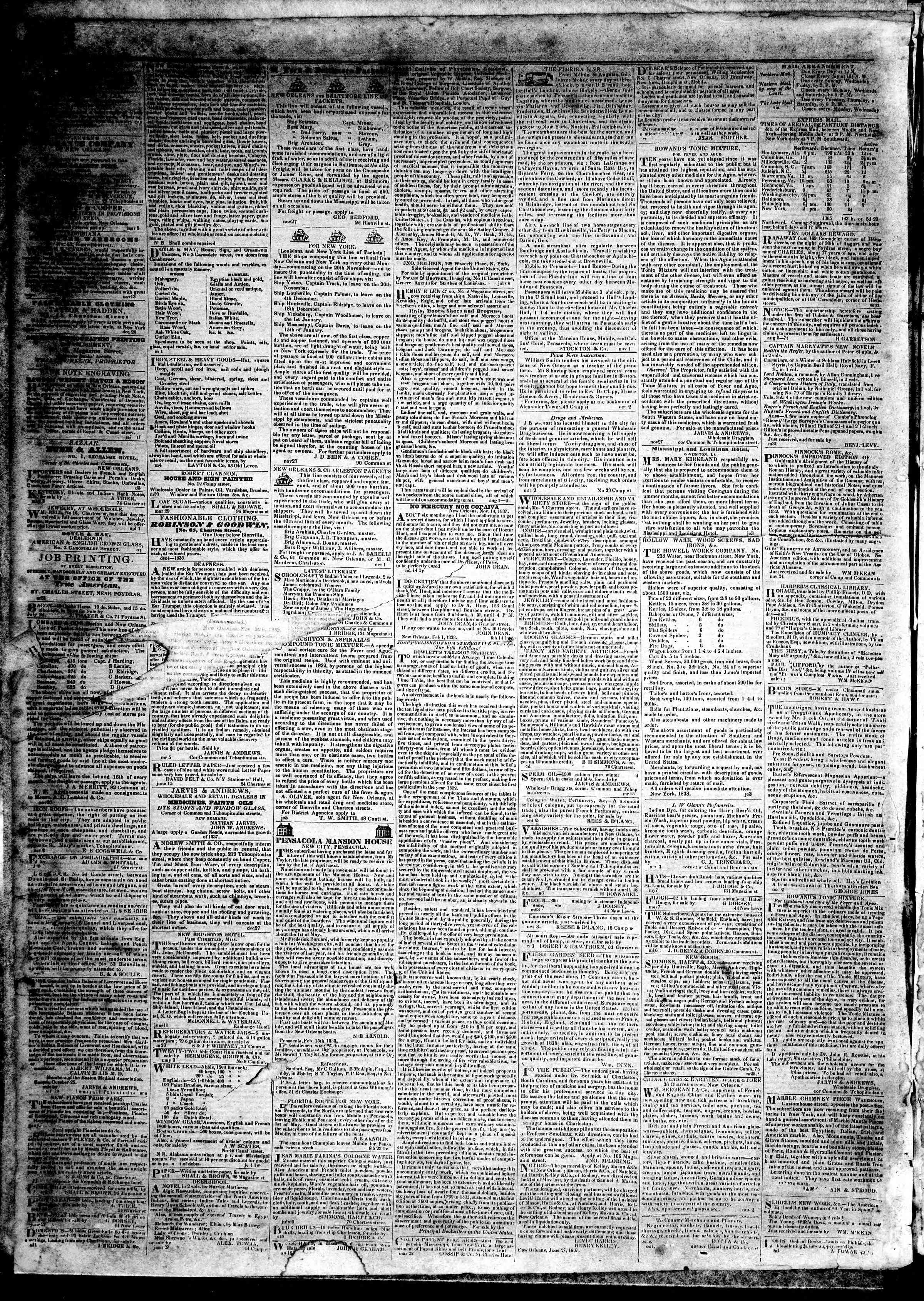 Newspaper of True American dated November 15, 1839 Page 4