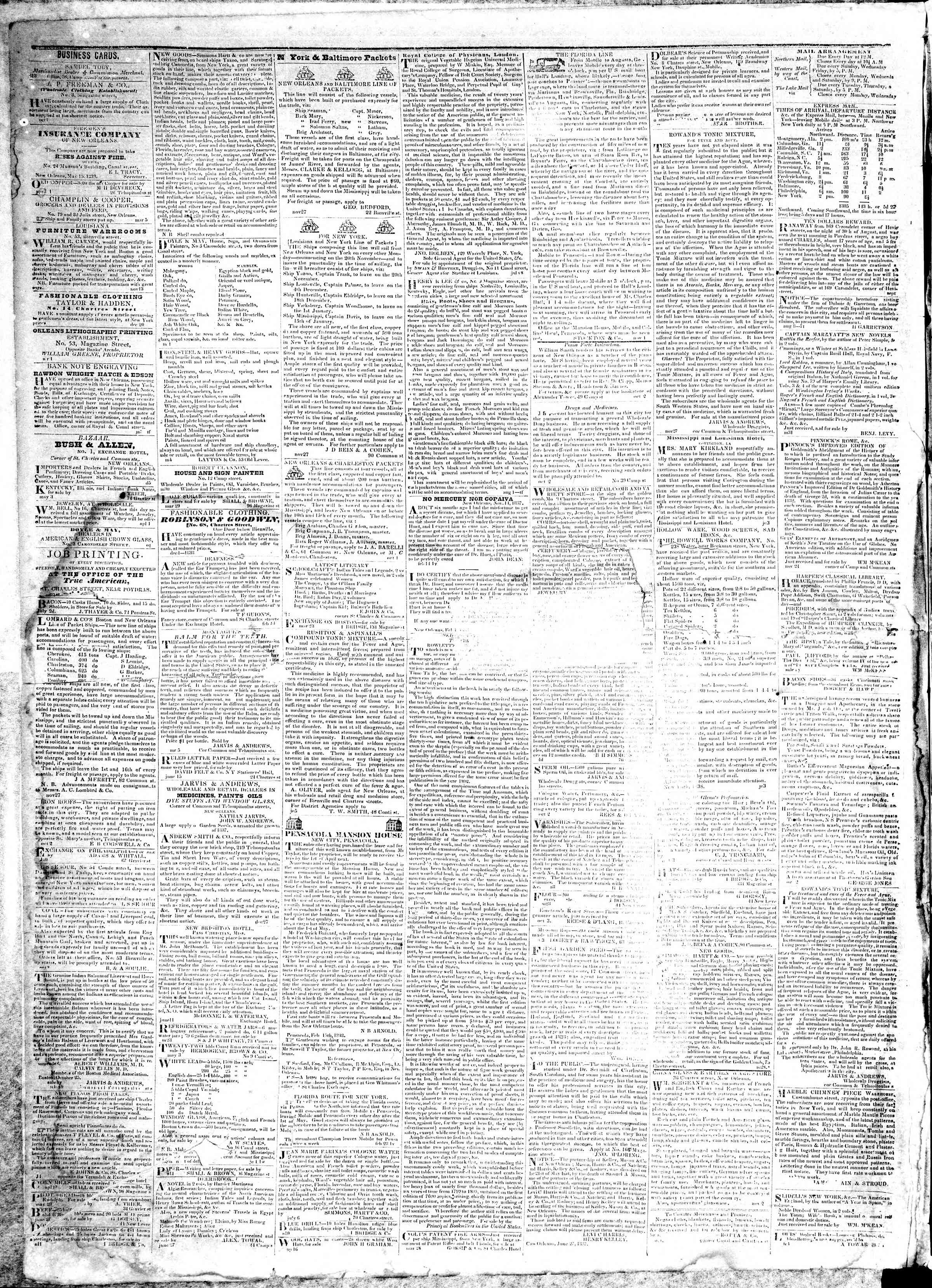 Newspaper of True American dated November 18, 1839 Page 4