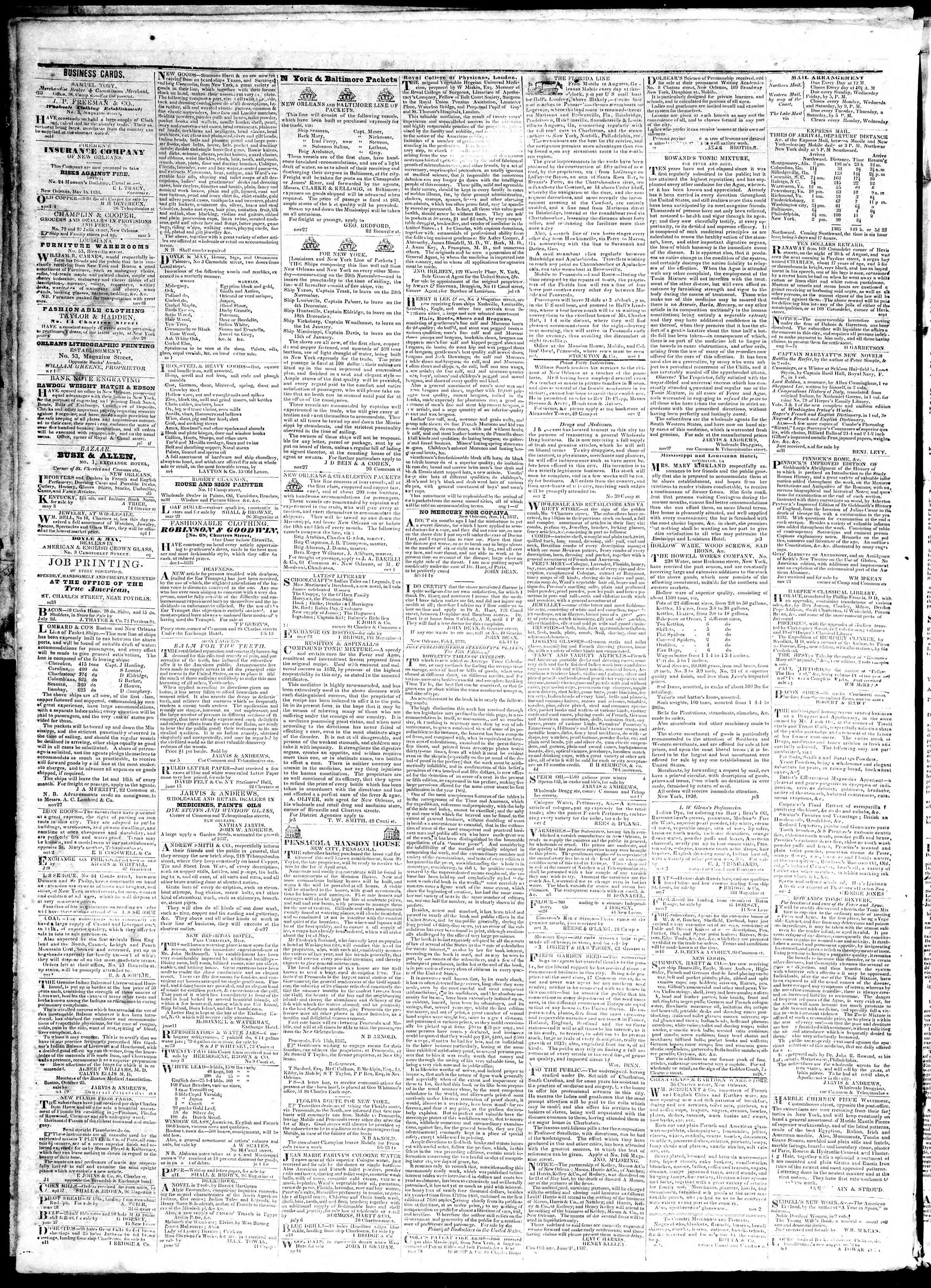 Newspaper of True American dated November 20, 1839 Page 4