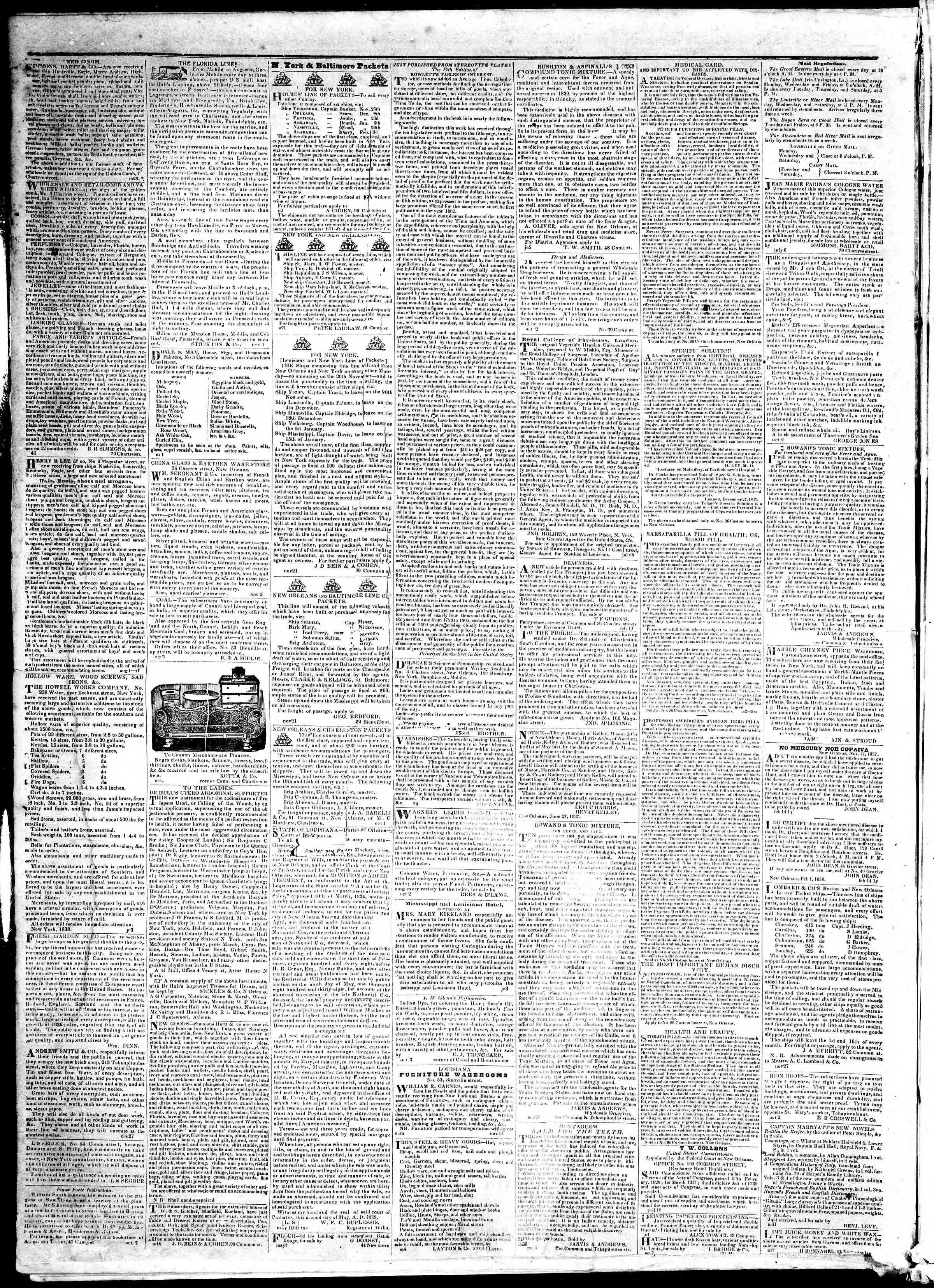 November 25, 1839 Tarihli True American Gazetesi Sayfa 4