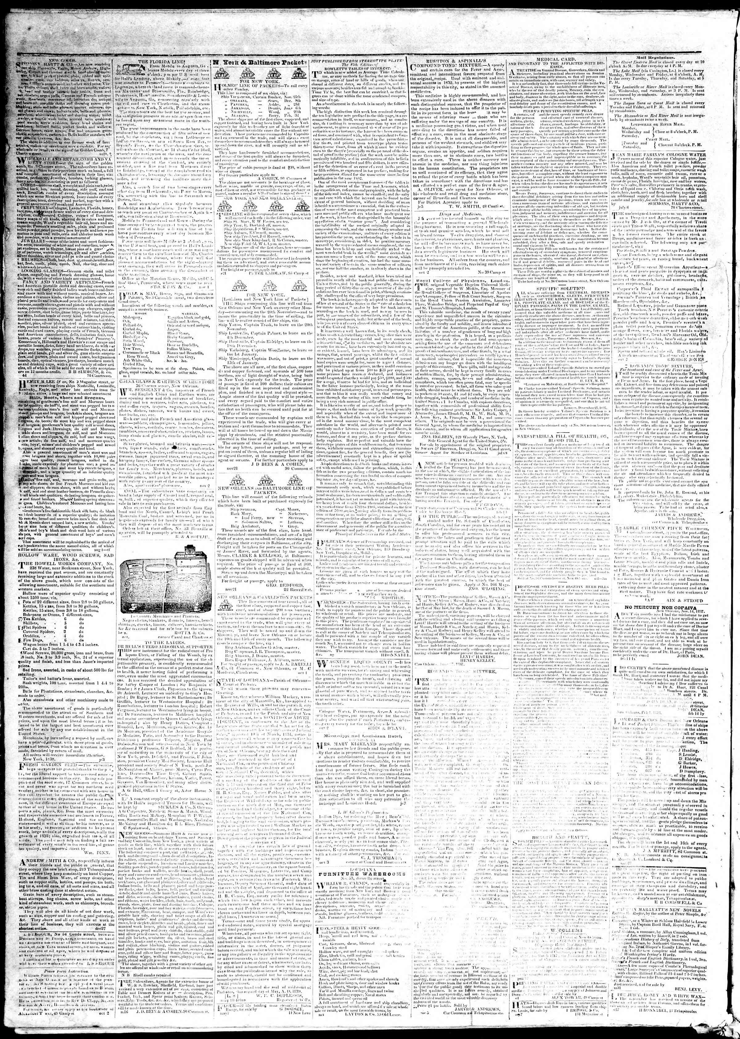 November 27, 1839 Tarihli True American Gazetesi Sayfa 4