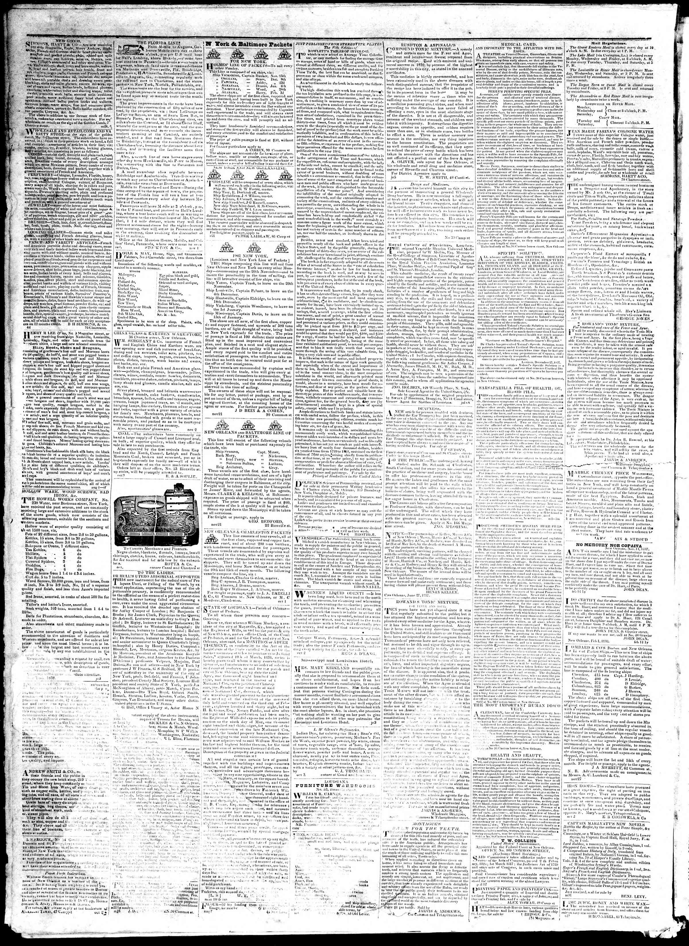 November 29, 1839 Tarihli True American Gazetesi Sayfa 4