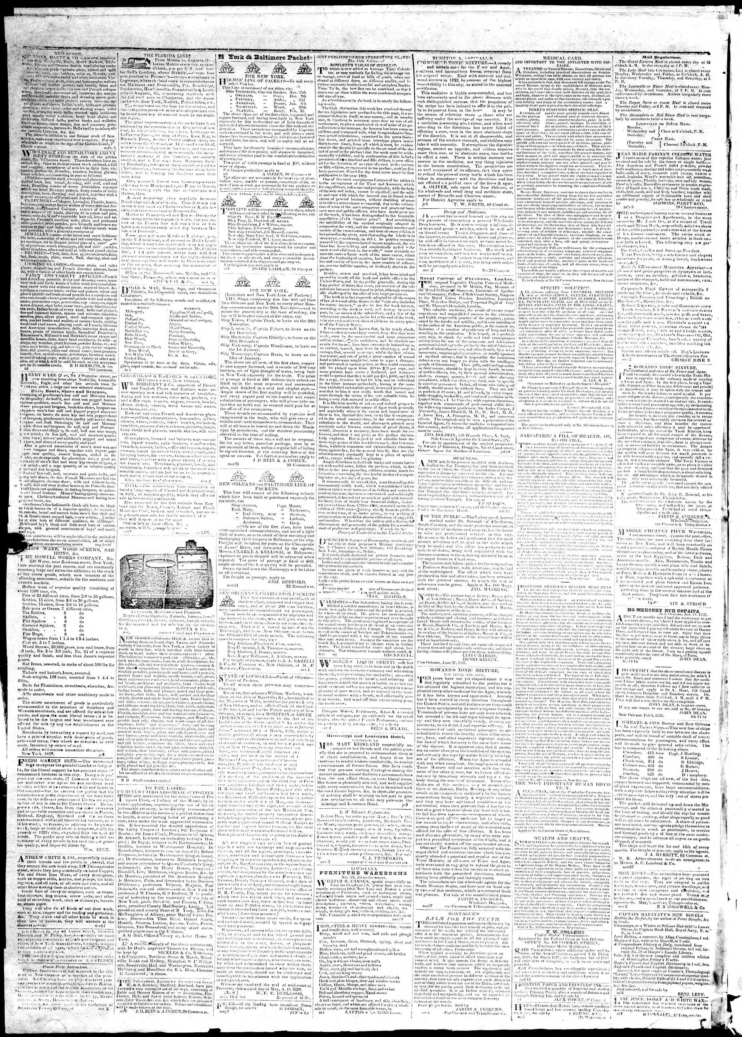 November 30, 1839 Tarihli True American Gazetesi Sayfa 4
