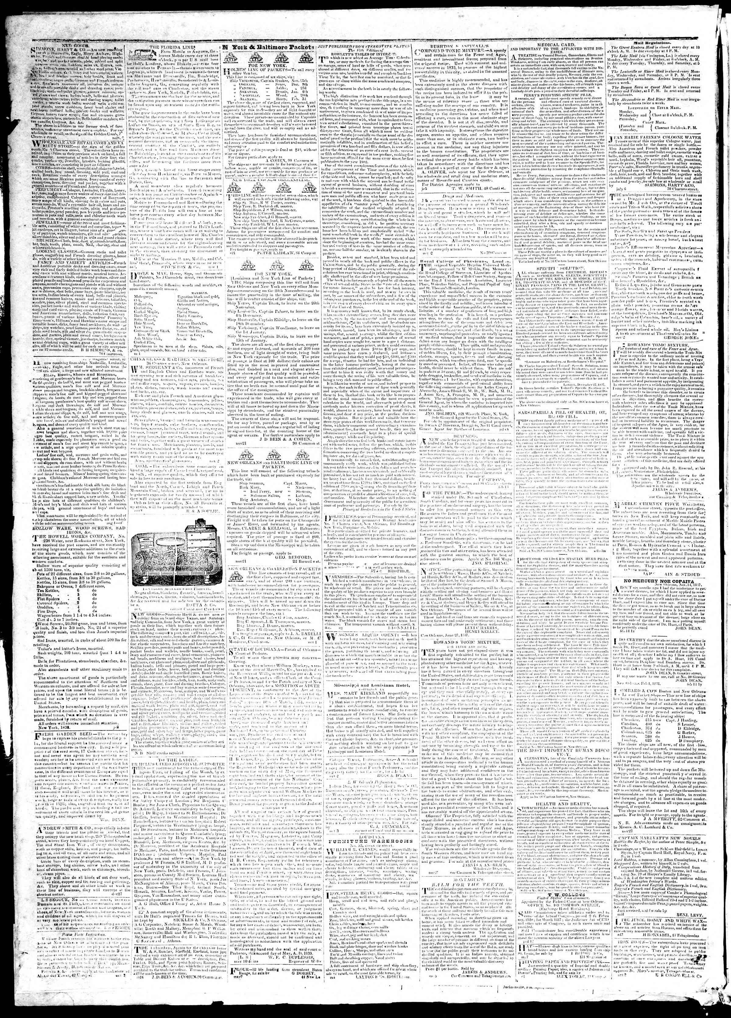Newspaper of True American dated December 2, 1839 Page 4