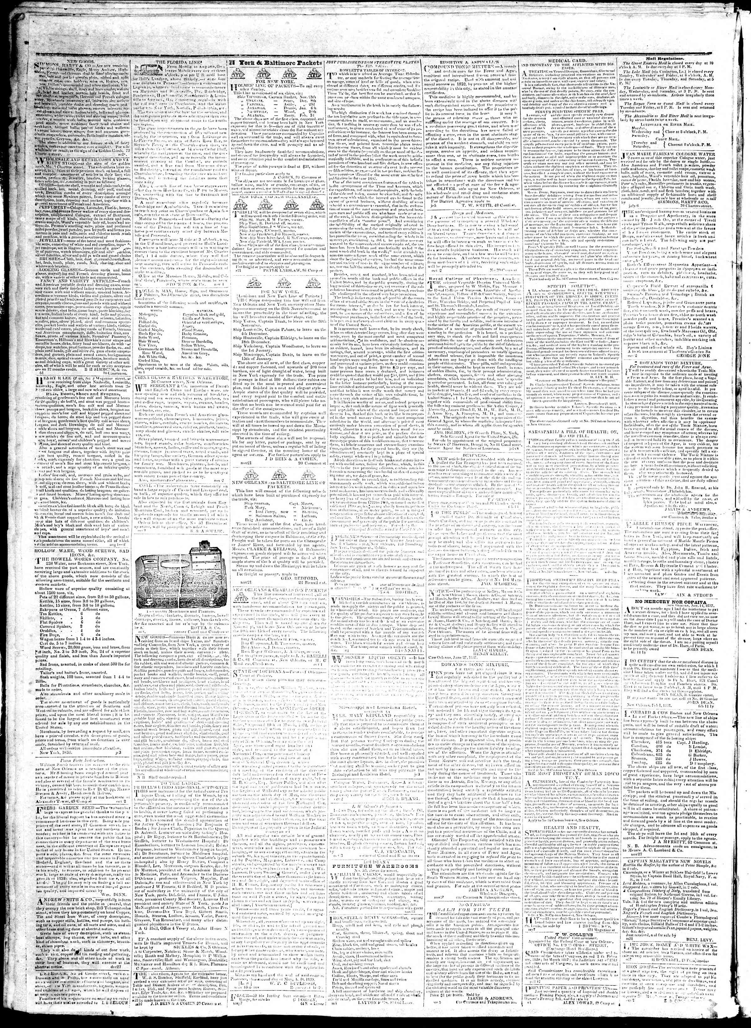 Newspaper of True American dated December 4, 1839 Page 4