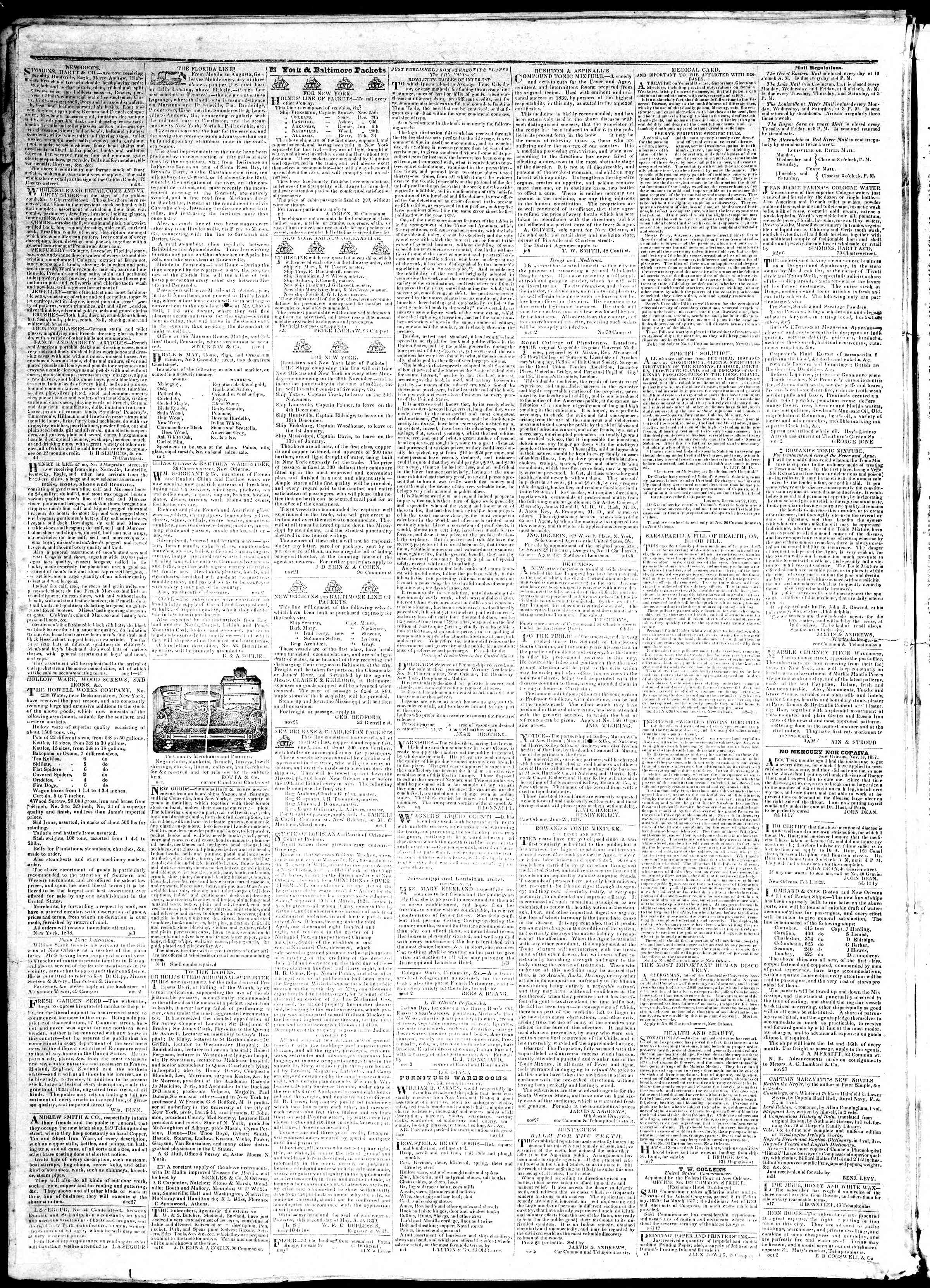 Newspaper of True American dated December 5, 1839 Page 4