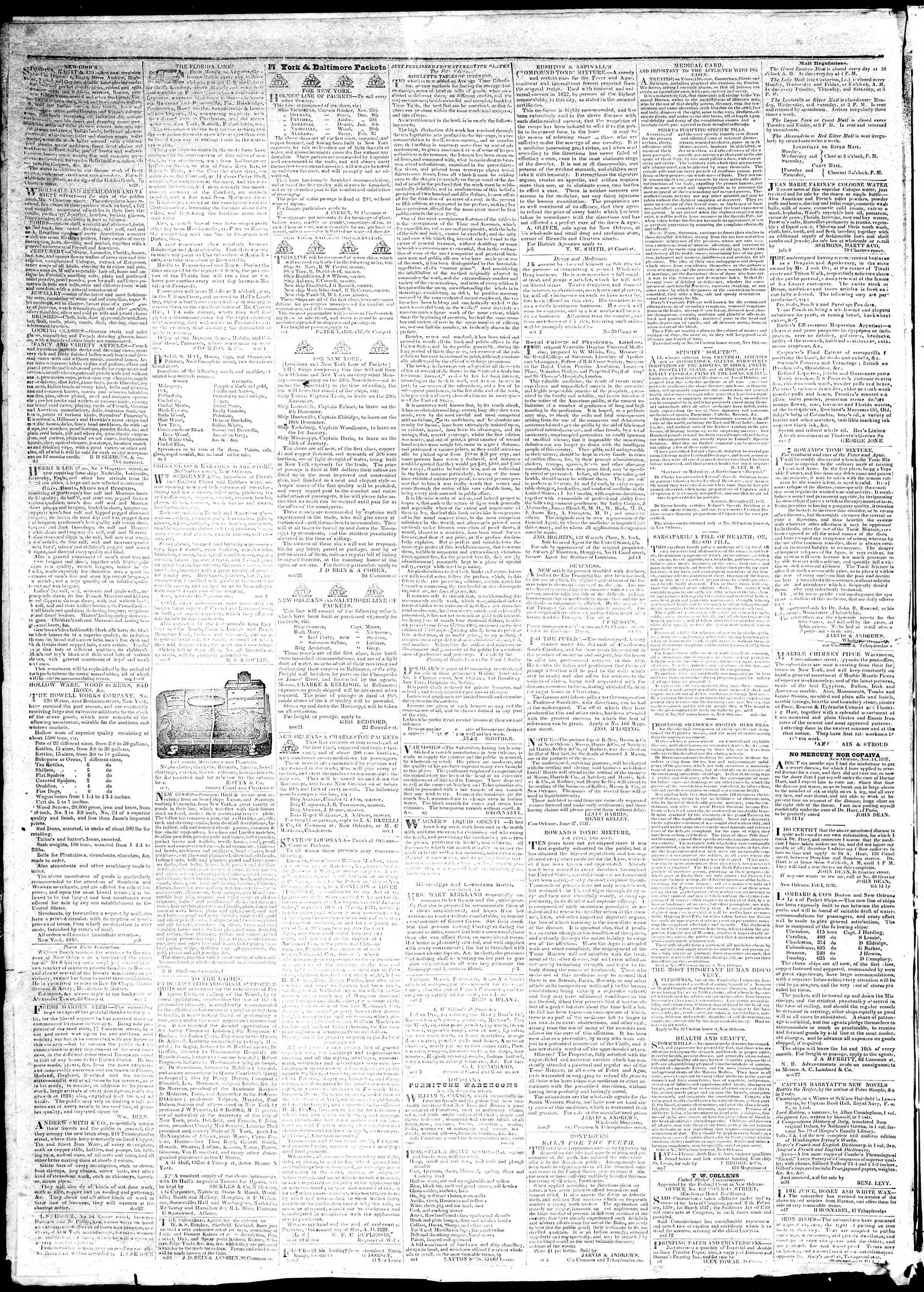 December 7, 1839 Tarihli True American Gazetesi Sayfa 4